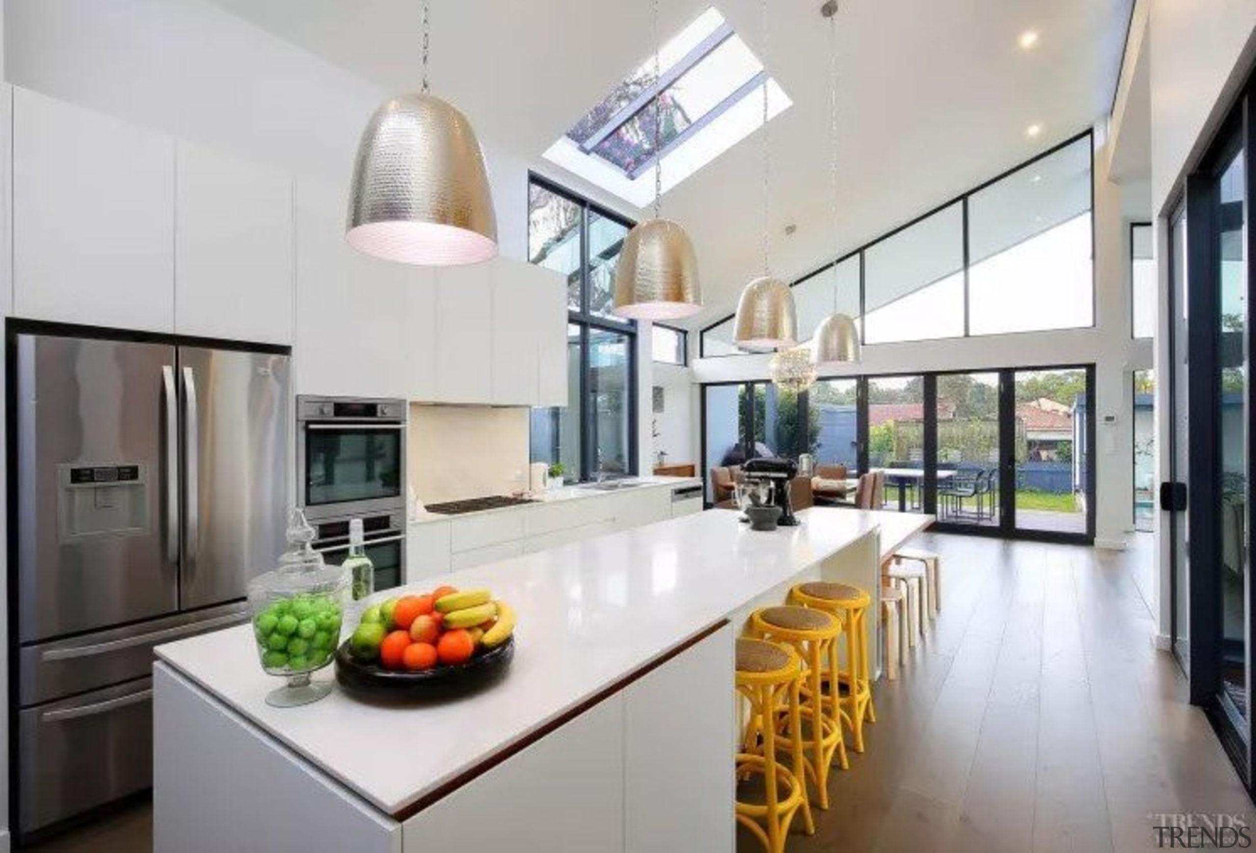 See the home condominium, countertop, interior design, kitchen, real estate, gray, white