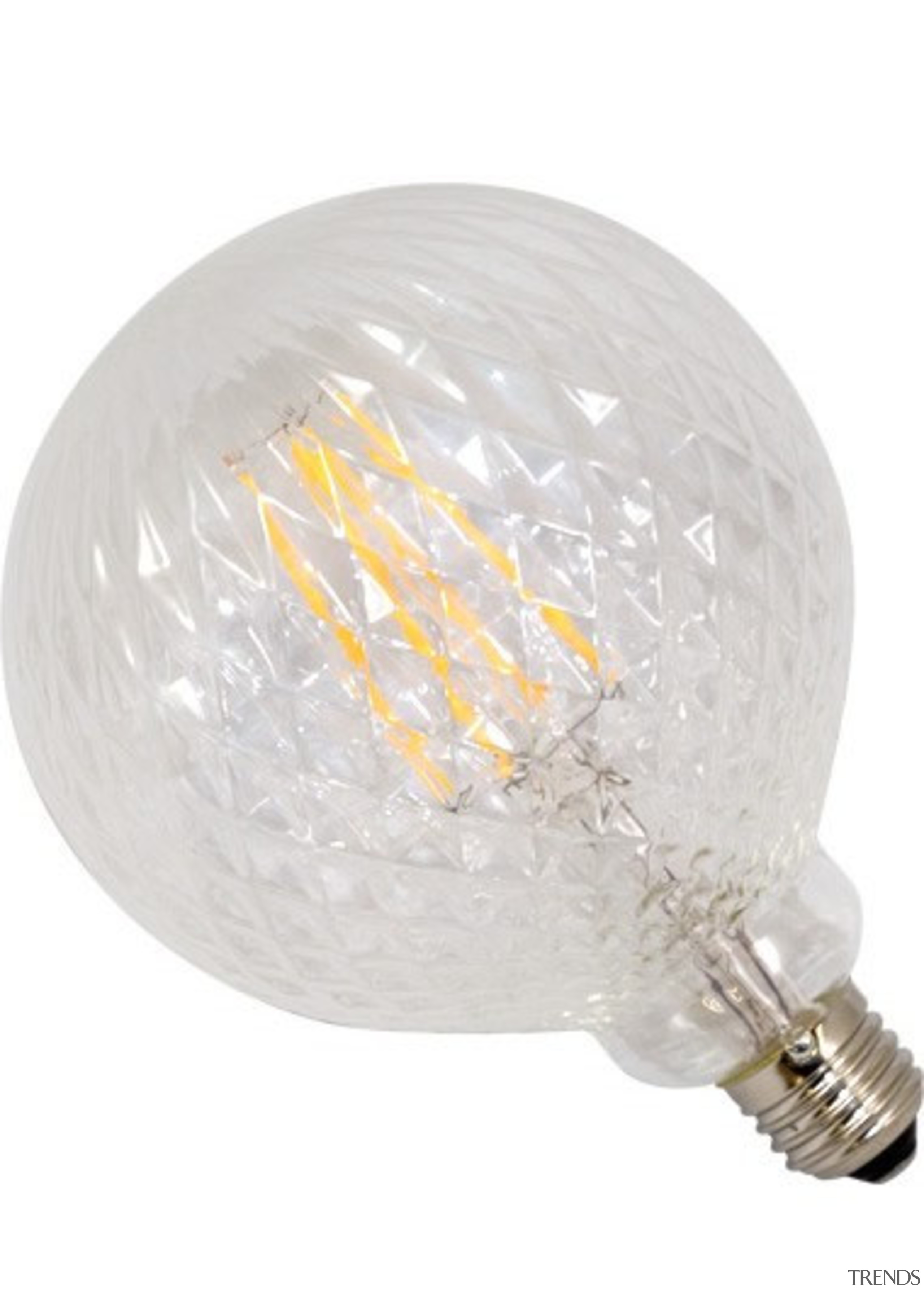 FeaturesThese lamps have a cut crystal style pattern white