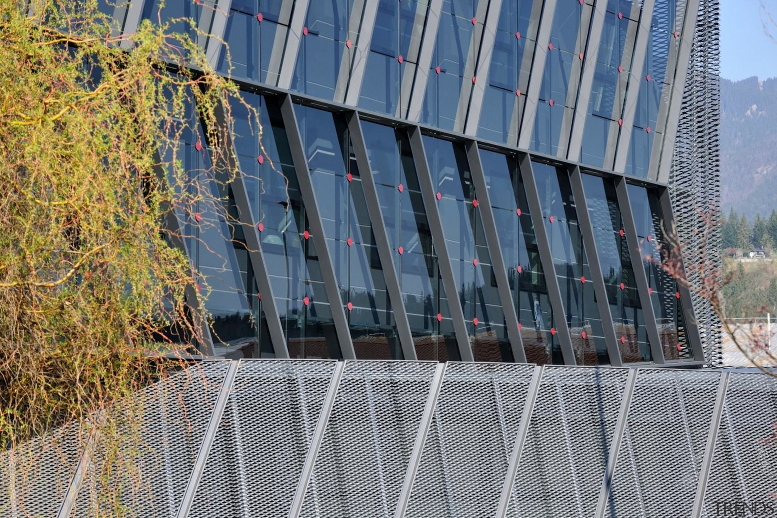 Architect: SuperformPhotography by Miran Kambič architecture, building, facade, fence, grass, landmark, residential area, structure, tree, urban area, gray