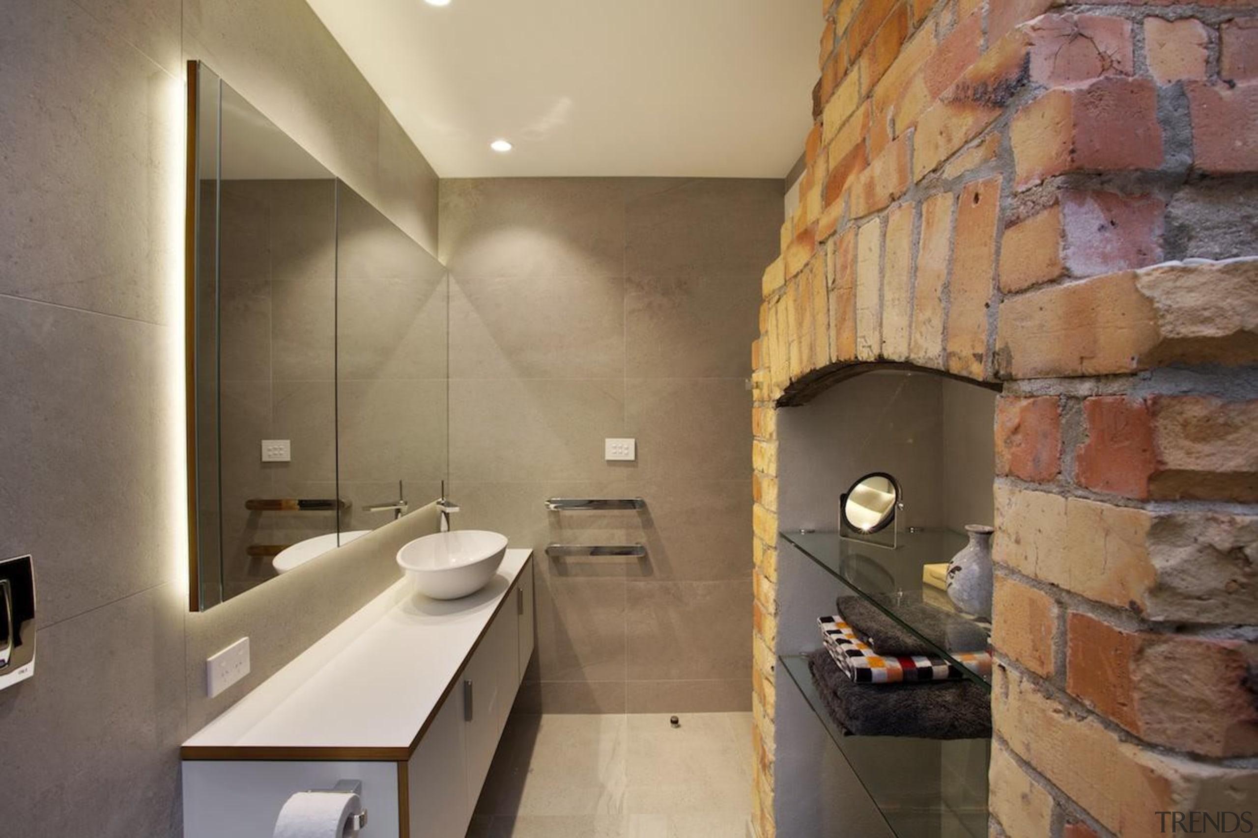 CAAHT Studio Architects –Master Suite Winner - 2015 bathroom, floor, interior design, room, tile, brown, orange