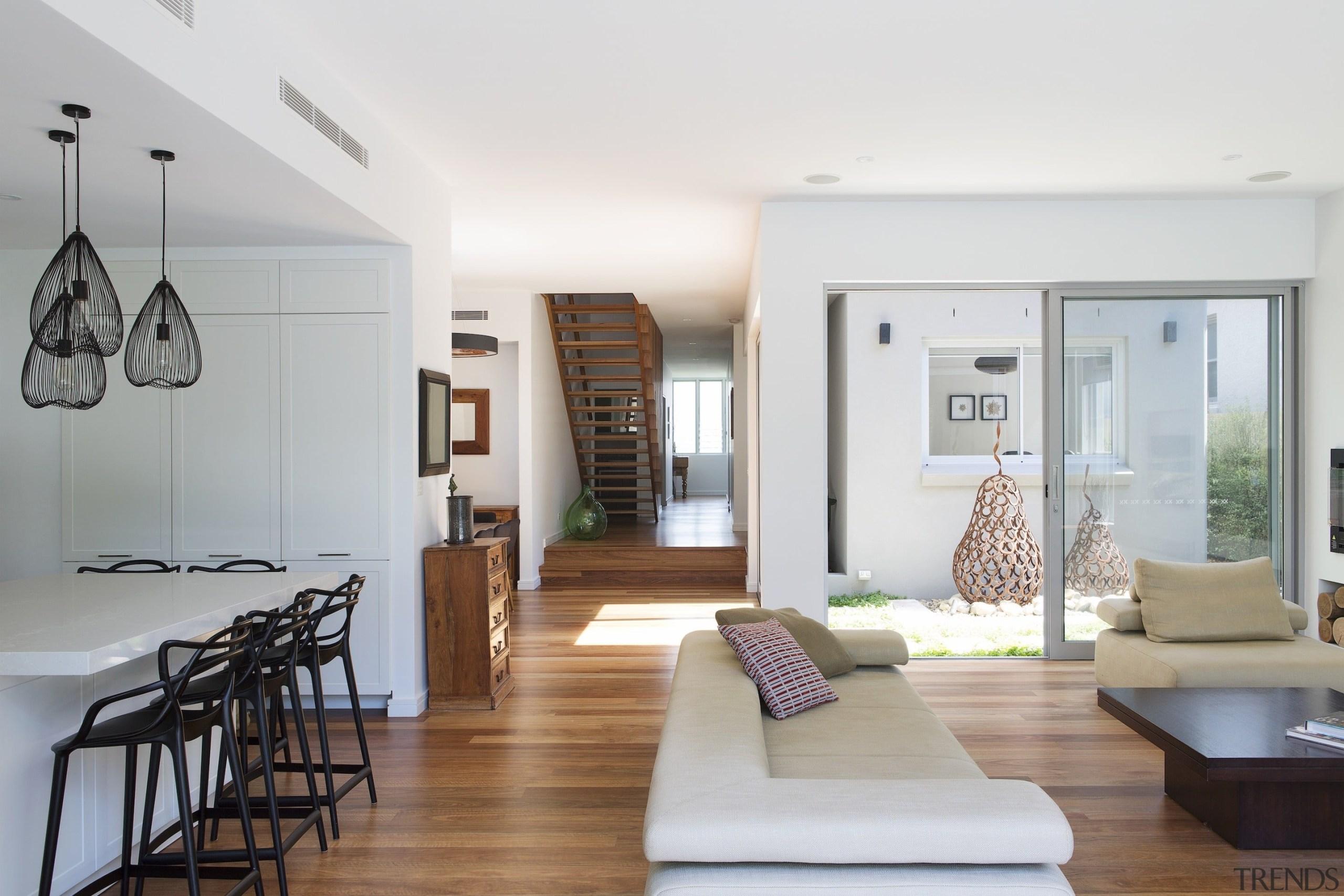 Winner – 2016 Tida Australian Designer Renovation architecture, ceiling, home, house, interior design, living room, real estate, room, gray, white