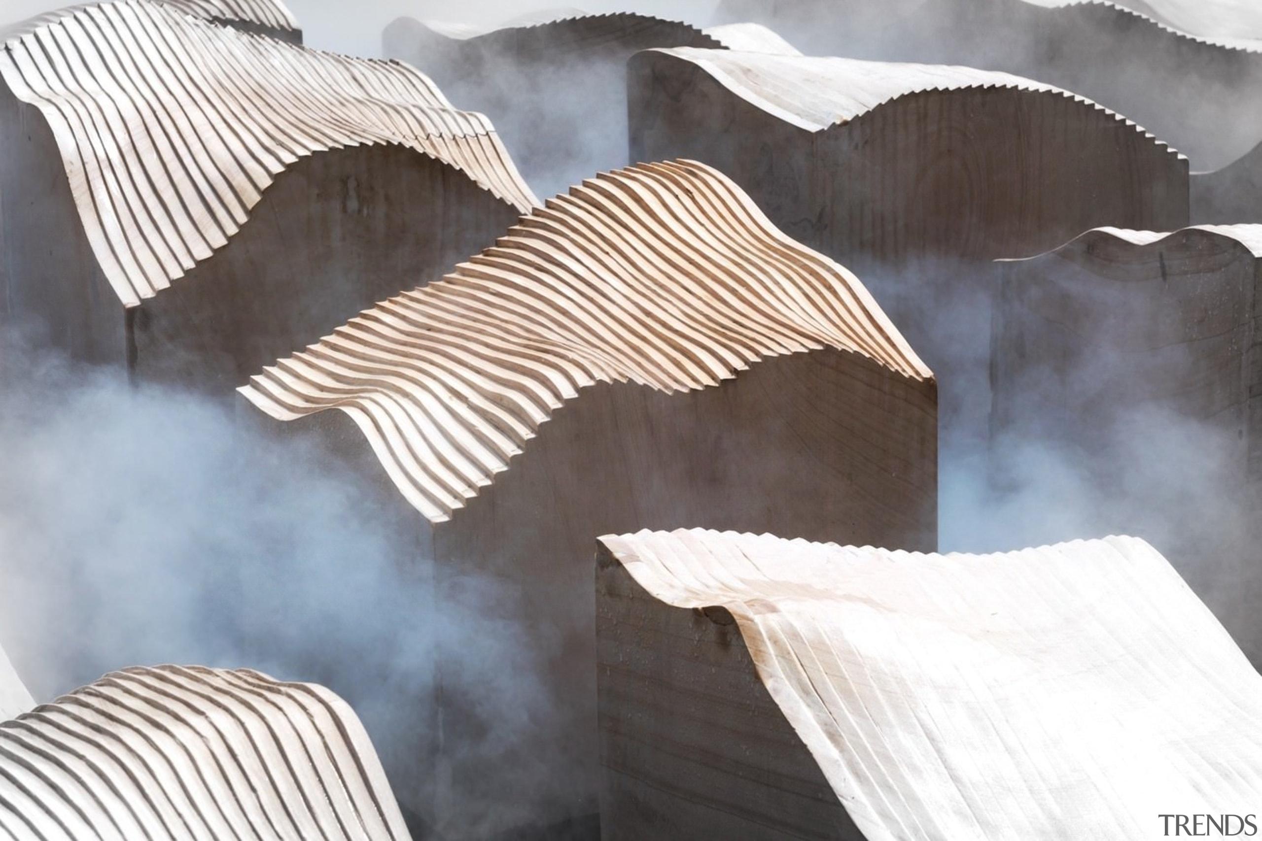 Vanke Park Mansion 'True Love' – FLOscape Landscape material, product design, textile, wood, gray, white