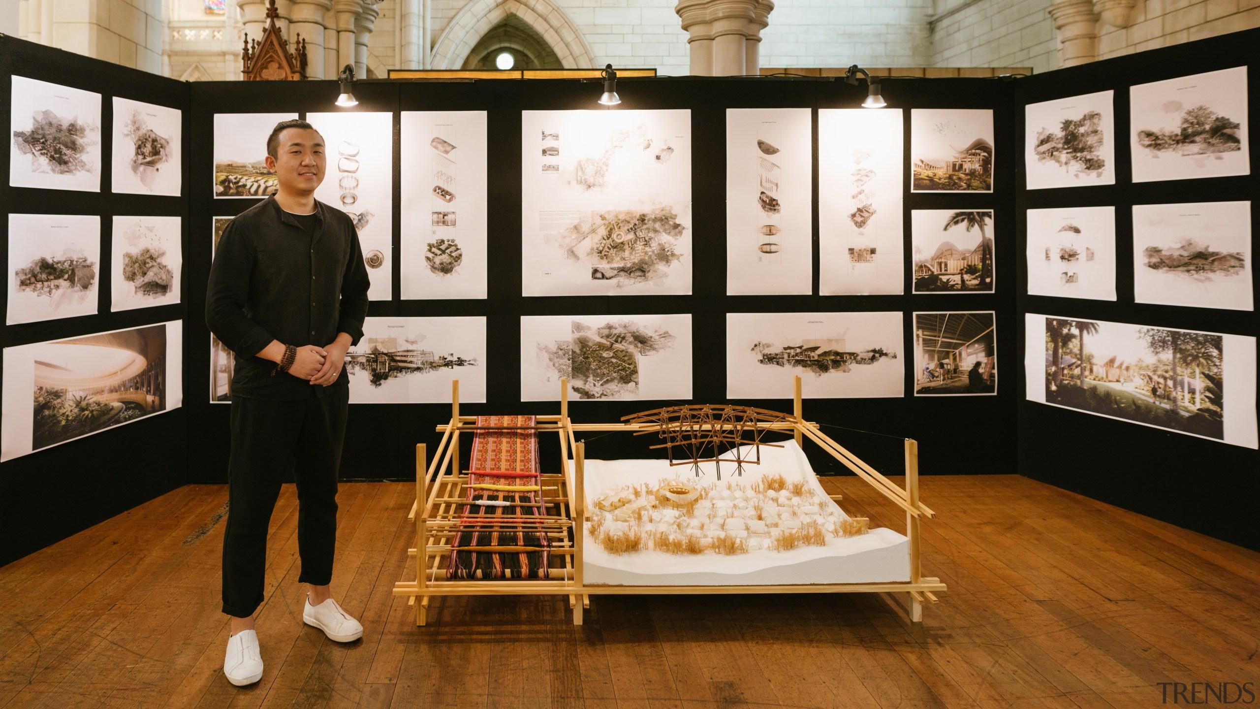 Jintao Yang – University Of Auckland – finalist art exhibition, collection, design, exhibition, furniture, interior design, brown, black, white