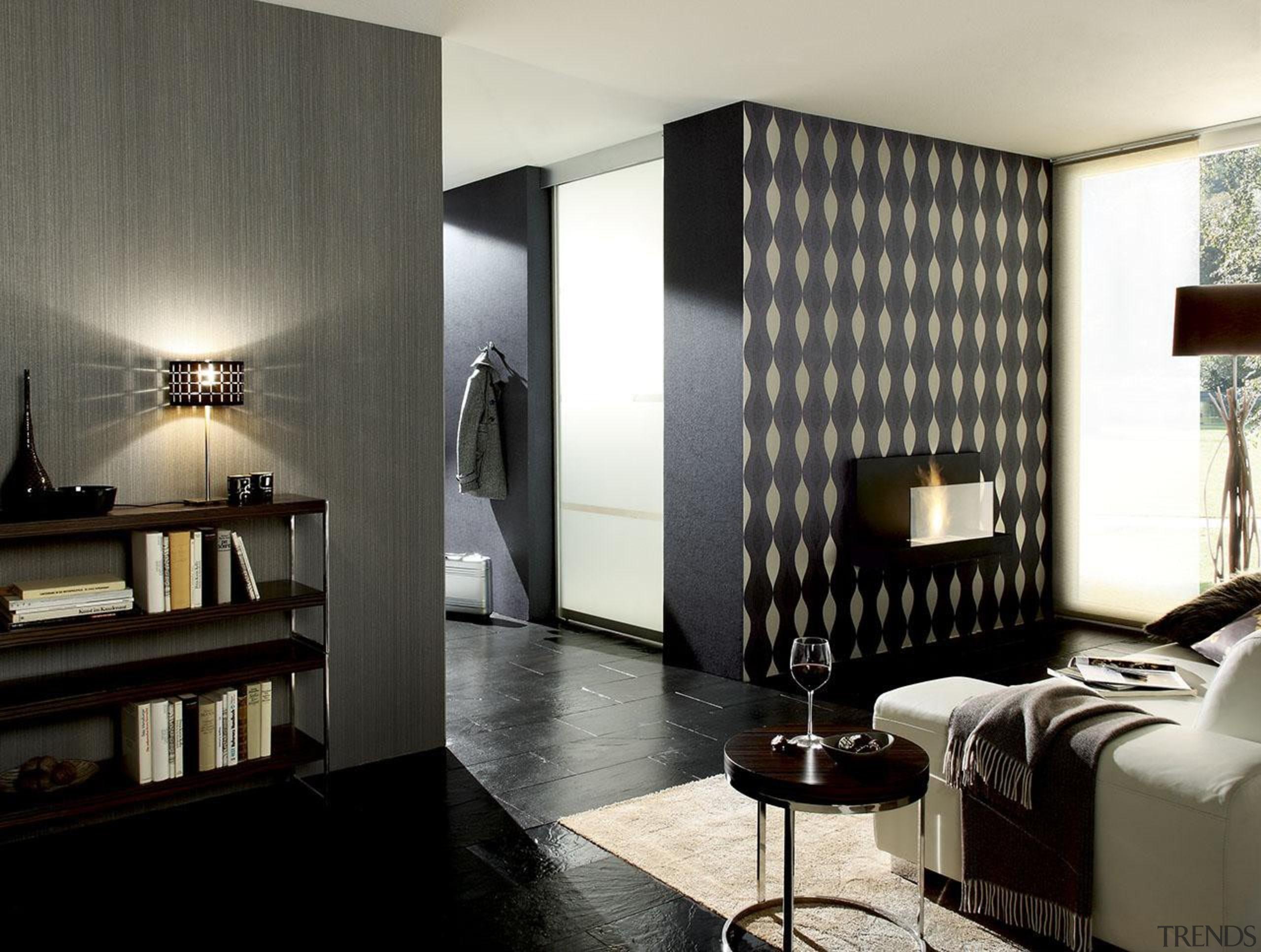 Modern Style Range - Modern Style Range - ceiling, floor, flooring, furniture, interior design, living room, room, wall, black, white