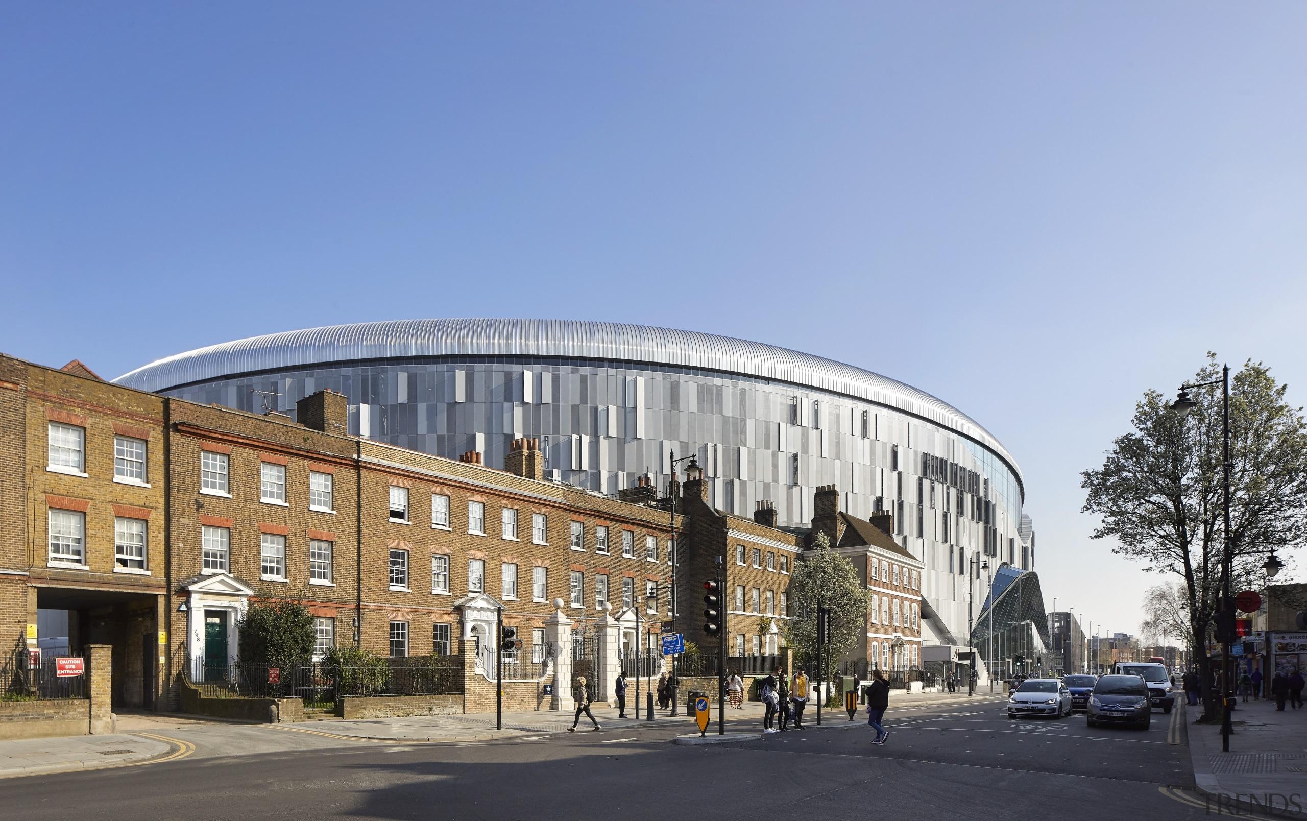 The new Tottenham Hotspur stadium transforms how stadia architecture, building, city, commercial building, facade, landmark, metropolitan area, mixed-use, teal