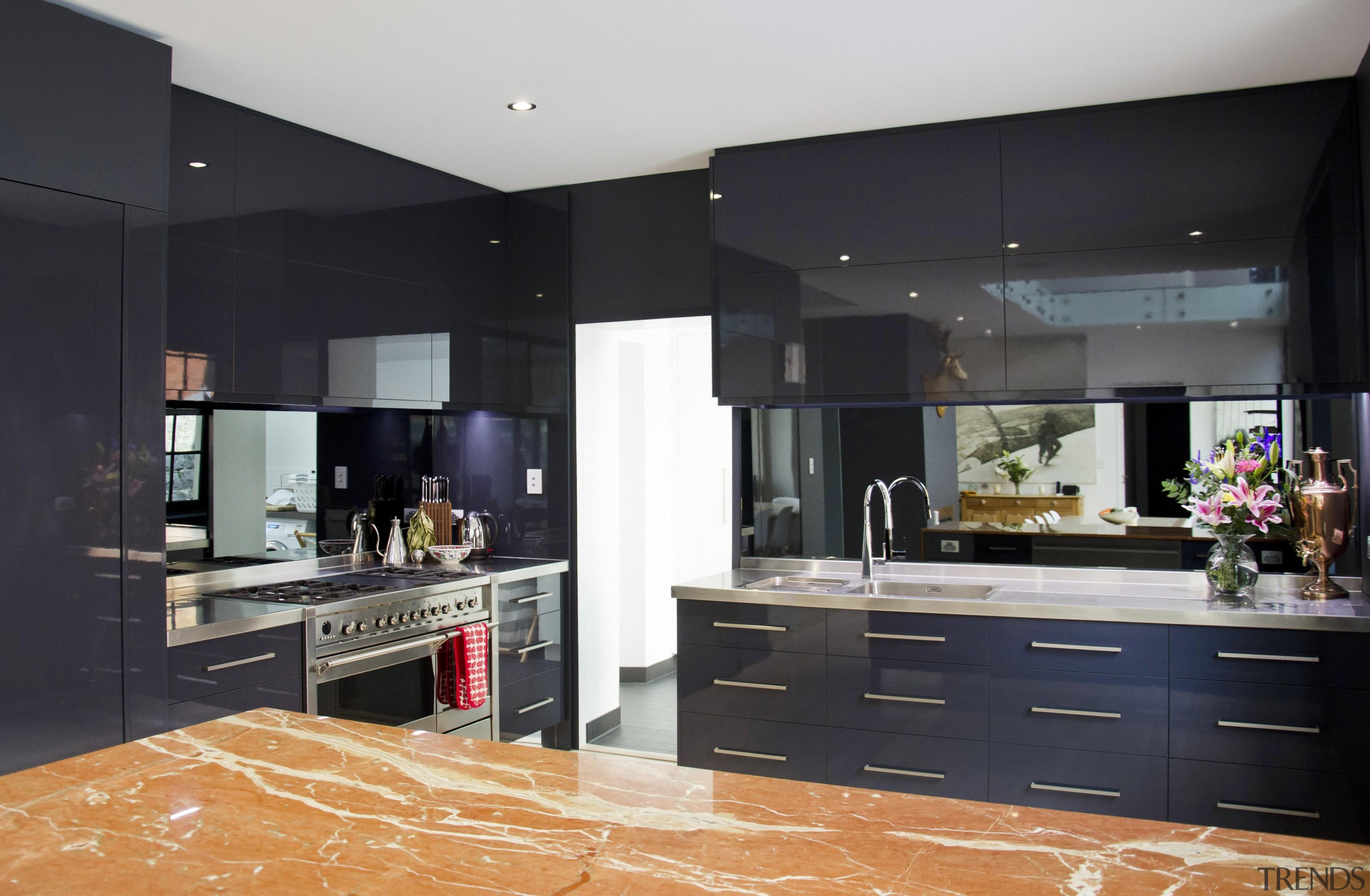 Winner Kitchen of the Year 2013 Tasmania Region cabinetry, countertop, cuisine classique, floor, flooring, interior design, kitchen, real estate, room, black