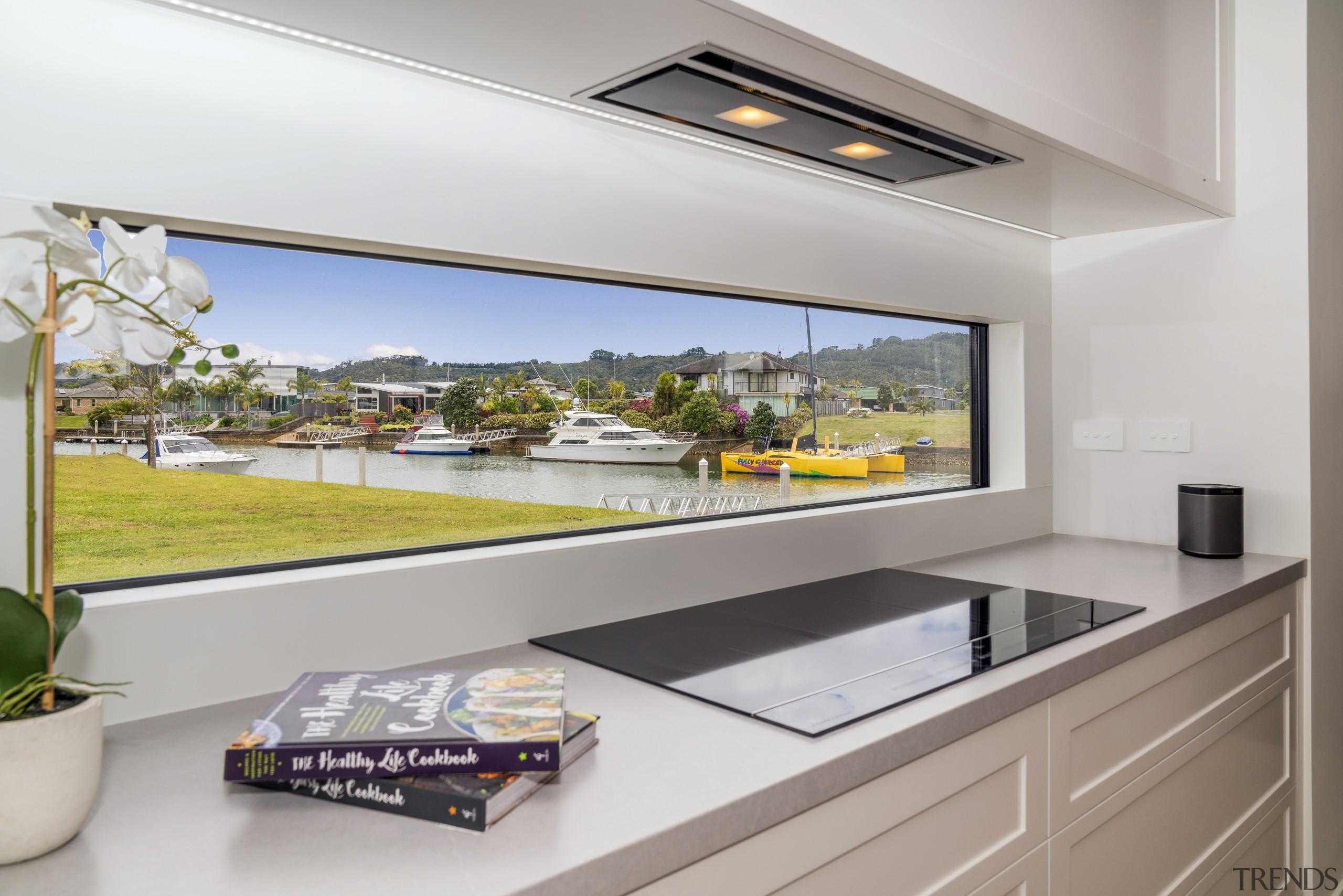 Even the kitchen splashback doubles as a panoramic home, interior design, kitchen, landmark homes,  showhome, new home, kitchen splashback