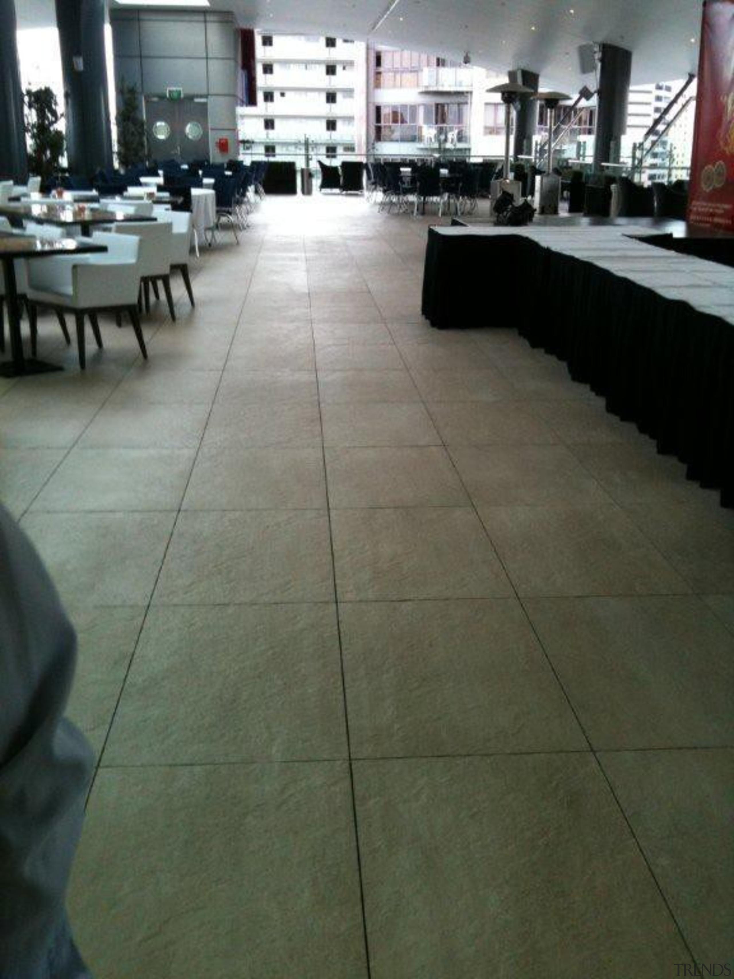 Skycity VIP deck. - RAK Stone Range - floor, flooring, hardwood, table, tile, wood, wood flooring, gray, black