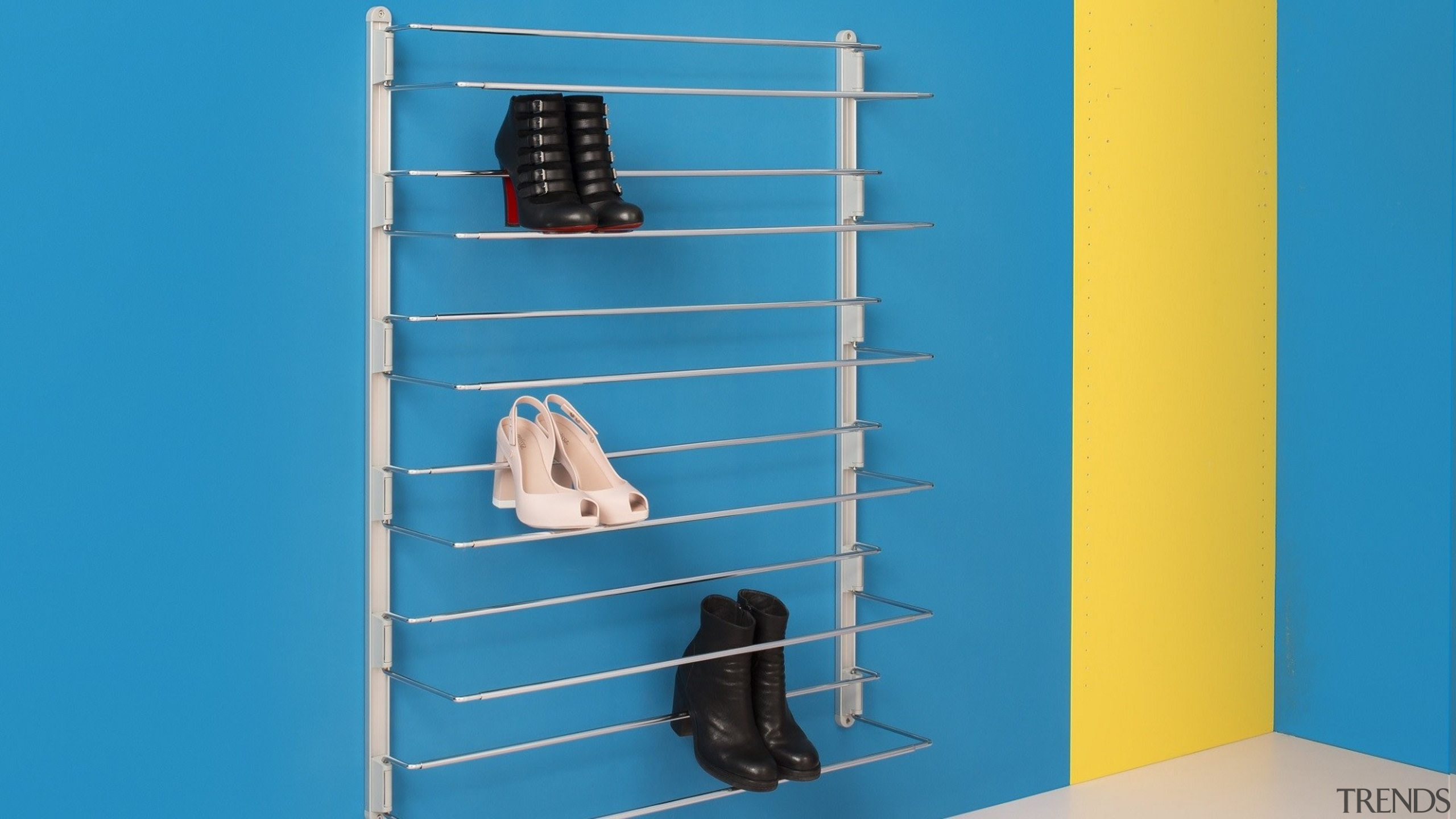 Ambos Shoe Racks - Ambos Shoe Racks - blue, furniture, line, locker, product, shelf, shelving, teal