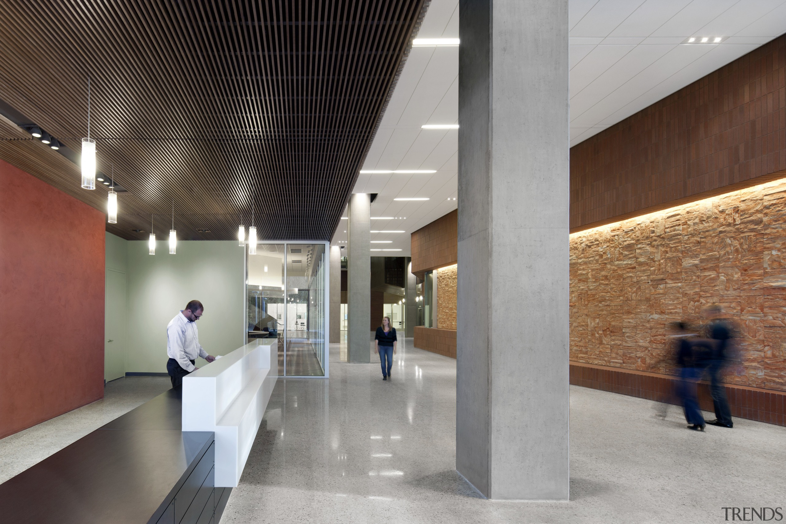 Arizona State University Interdisciplinary Science and Technology Building architecture, ceiling, daylighting, interior design, lobby, tourist attraction, gray