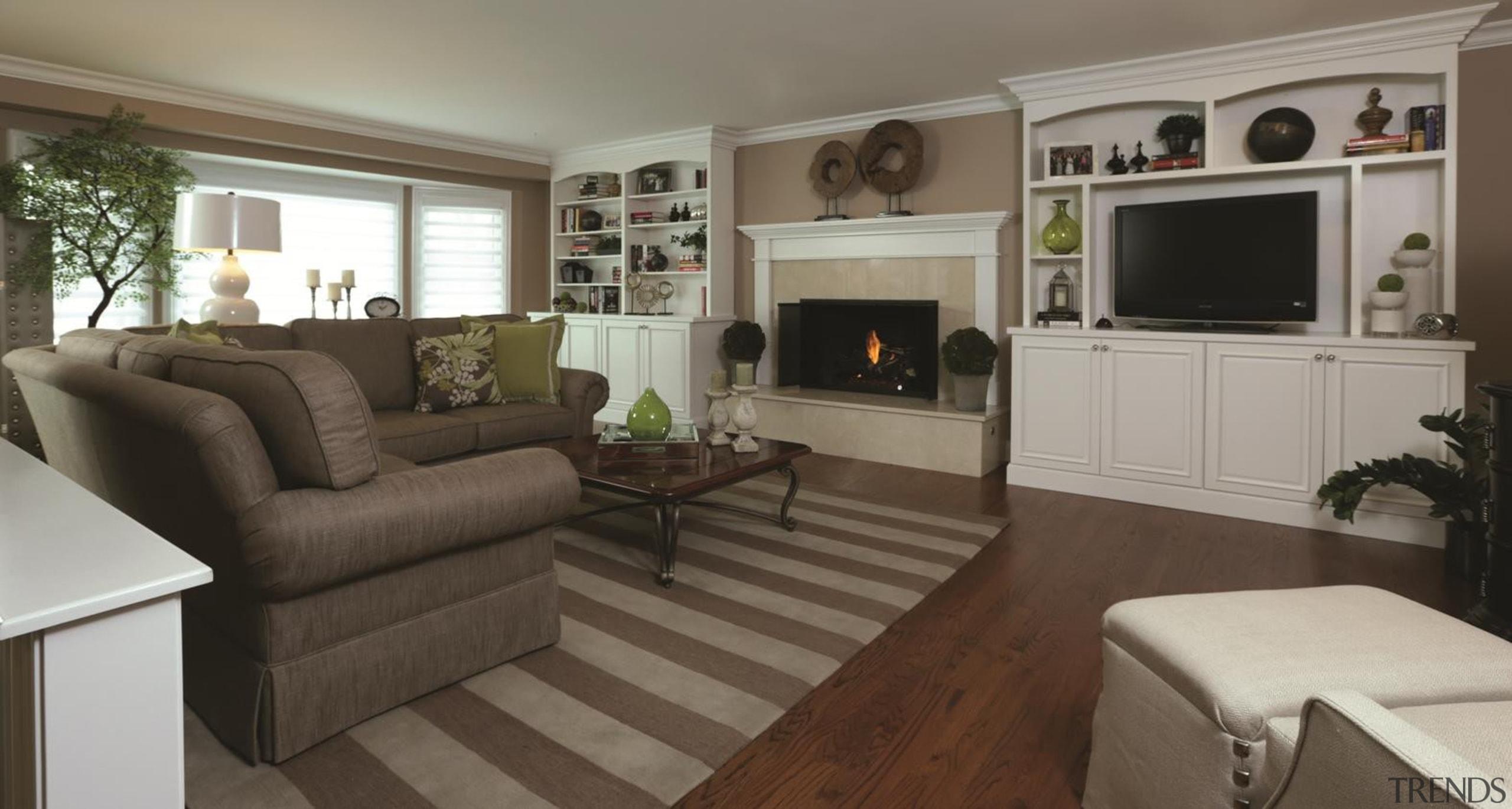 First Floor Remodel - Family Room - floor floor, flooring, home, interior design, living room, property, real estate, room, gray, brown