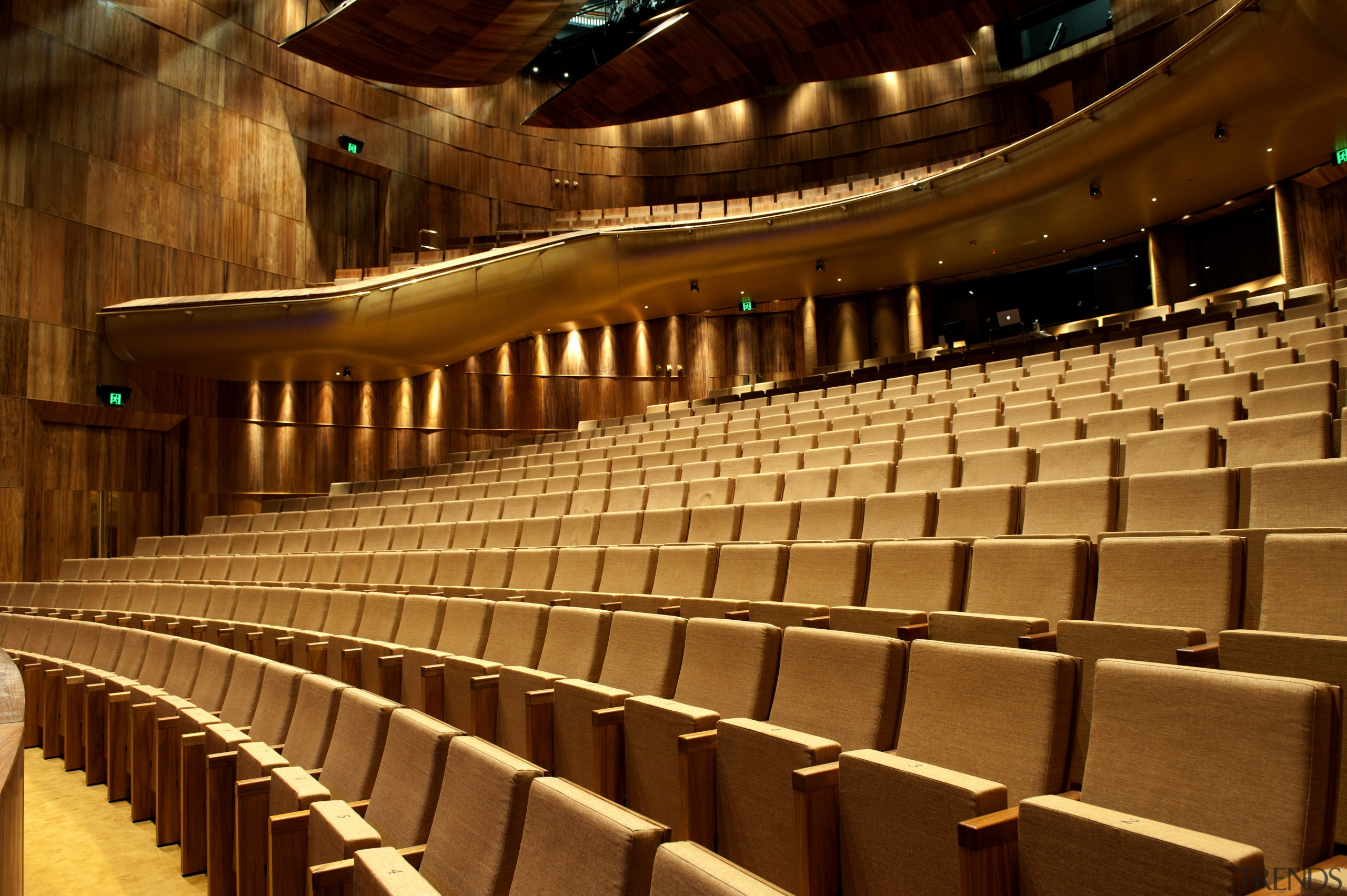 This is the Perth State Theatre, designed by auditorium, concert hall, musical instrument accessory, opera house, performing arts center, theatre, brown, red