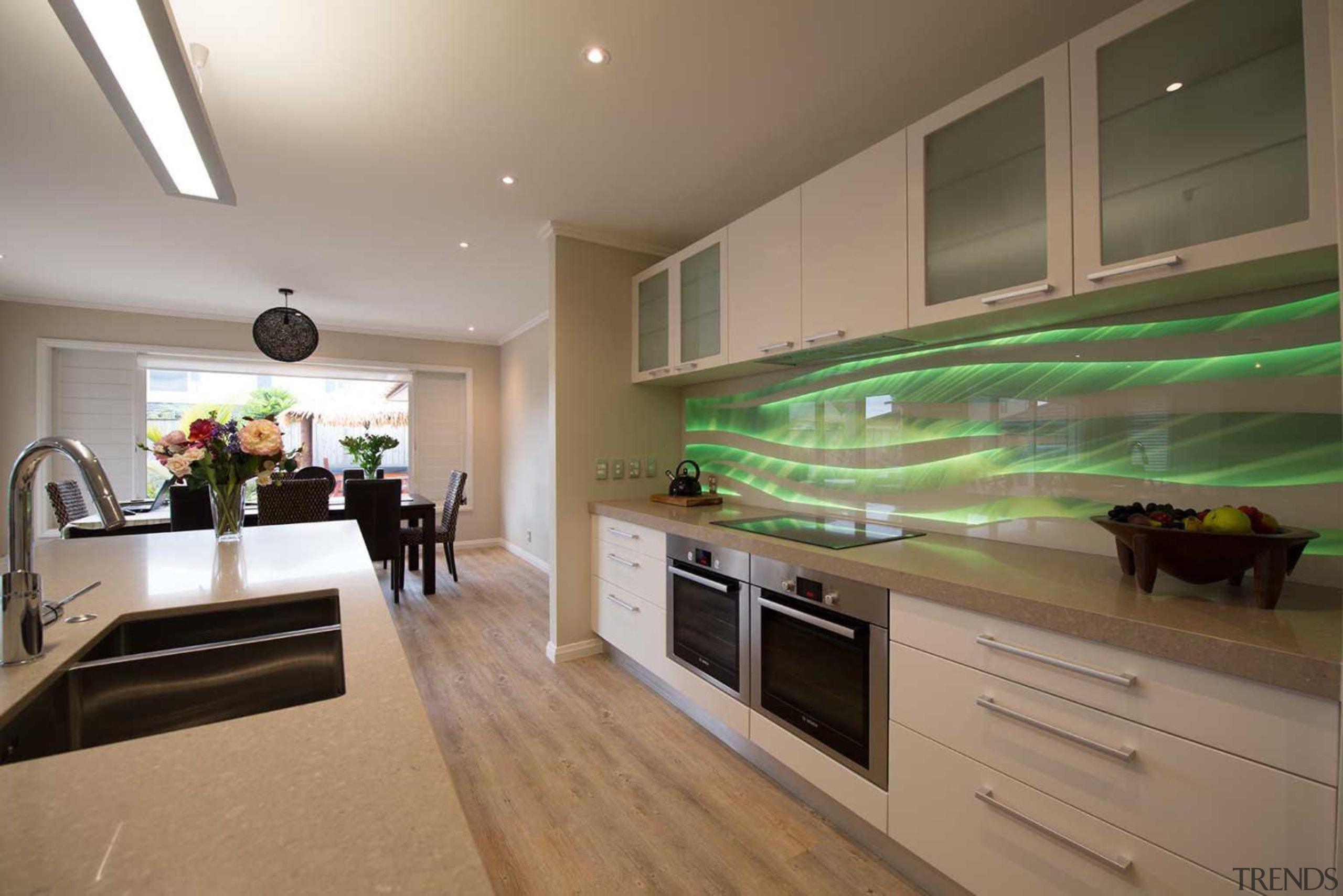 Every kitchen needs a hero and a vibrant ceiling, countertop, interior design, kitchen, real estate, room, brown, gray
