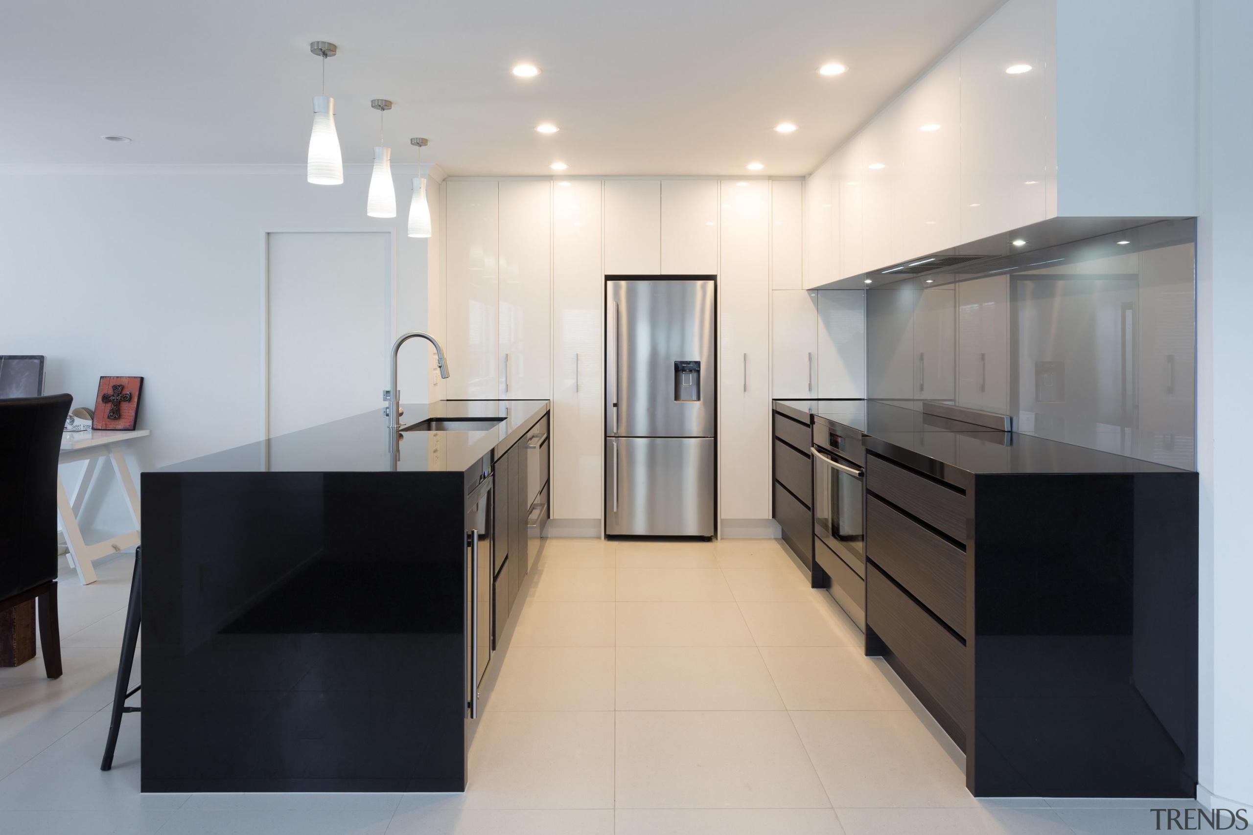 black granite, glass splashback, designatek gloss, designatek textured, architecture, cabinetry, countertop, floor, interior design, kitchen, product design, real estate, room, gray