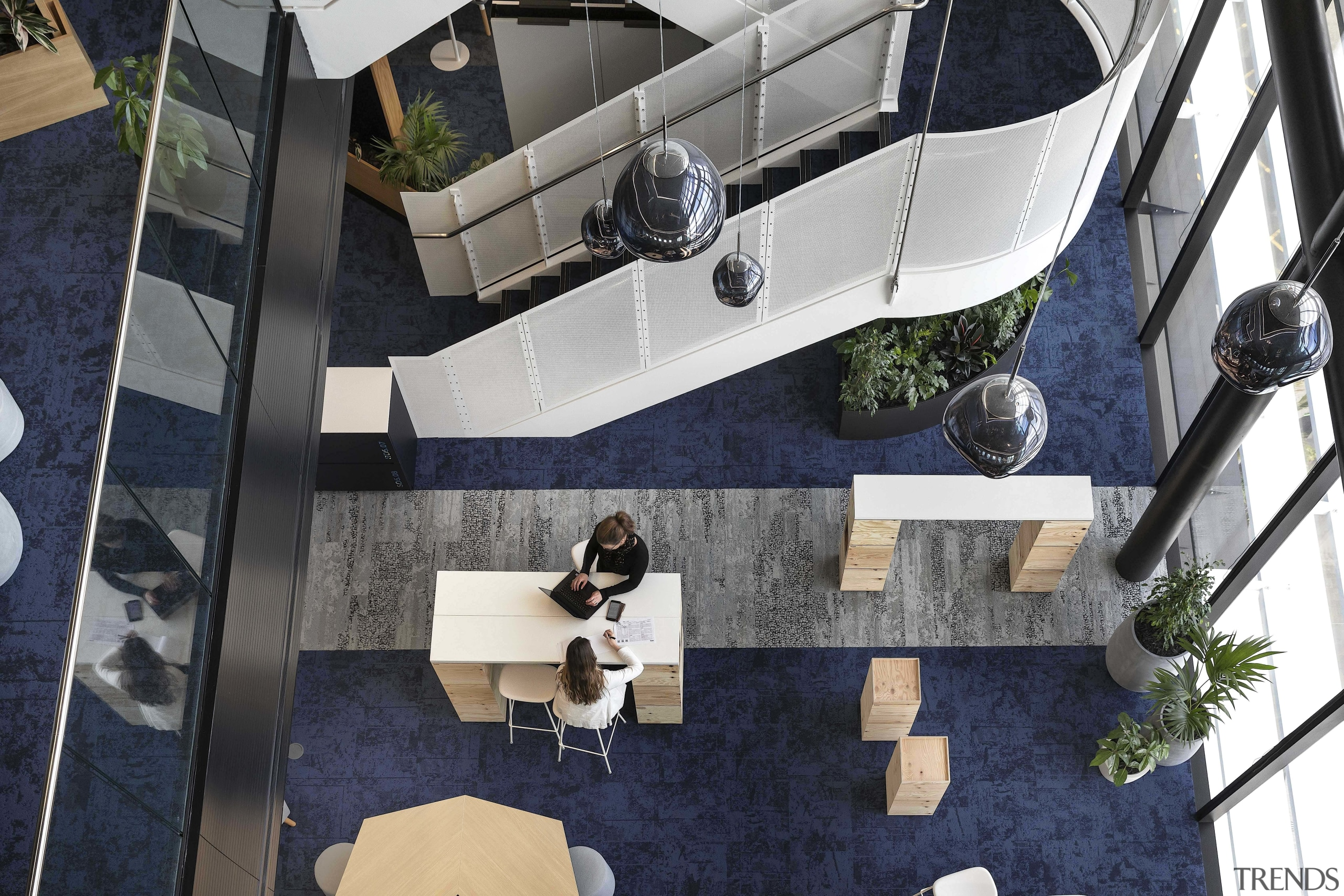 The base building stair and ANZ flexible work