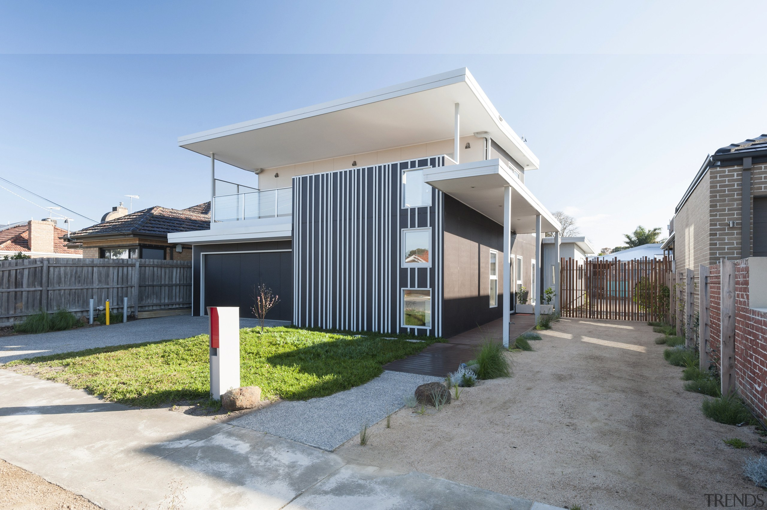 The Green & Gold House designed by Positive facade, home, house, neighbourhood, property, real estate, residential area, white