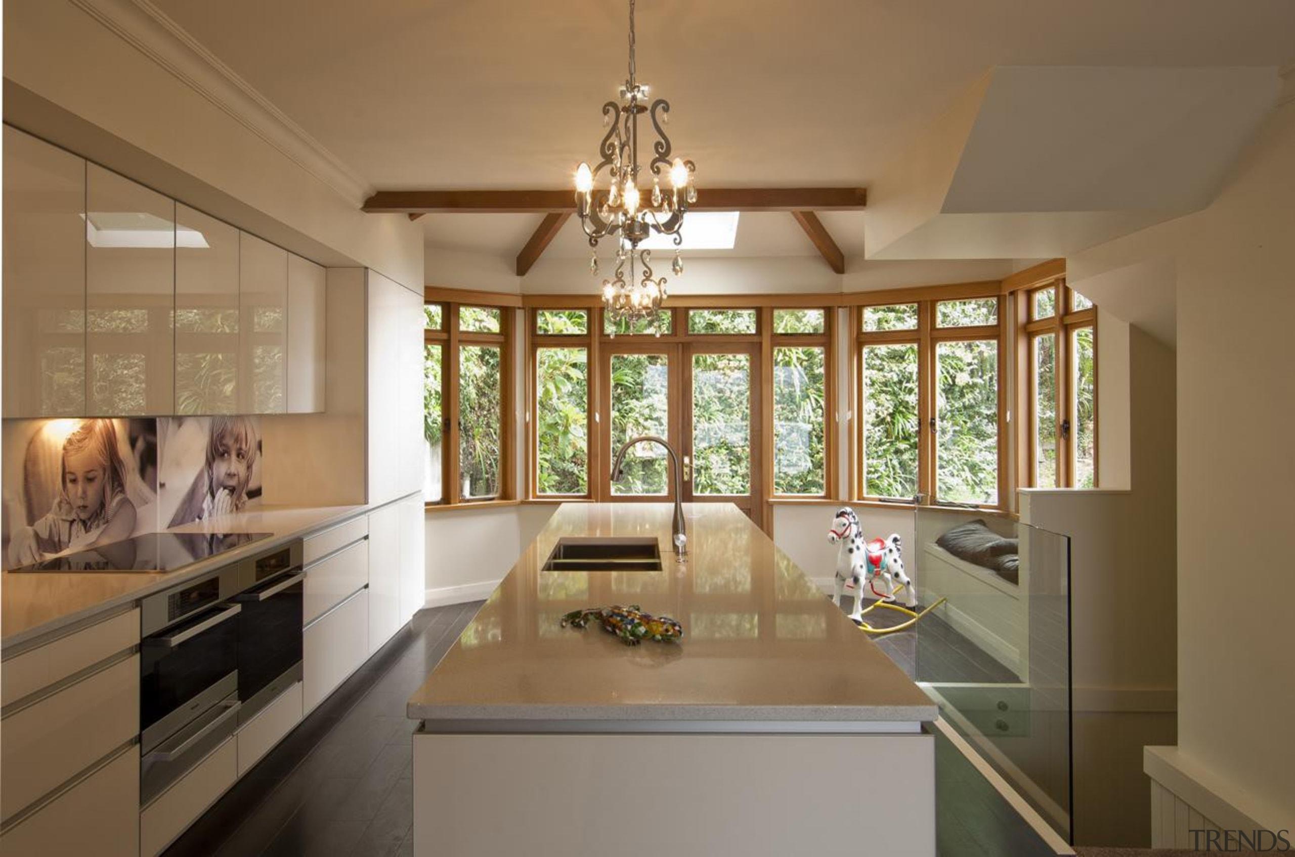 Hataitai Kitchen - Hataitai Kitchen - ceiling   ceiling, countertop, cuisine classique, estate, home, interior design, kitchen, real estate, room, window, brown