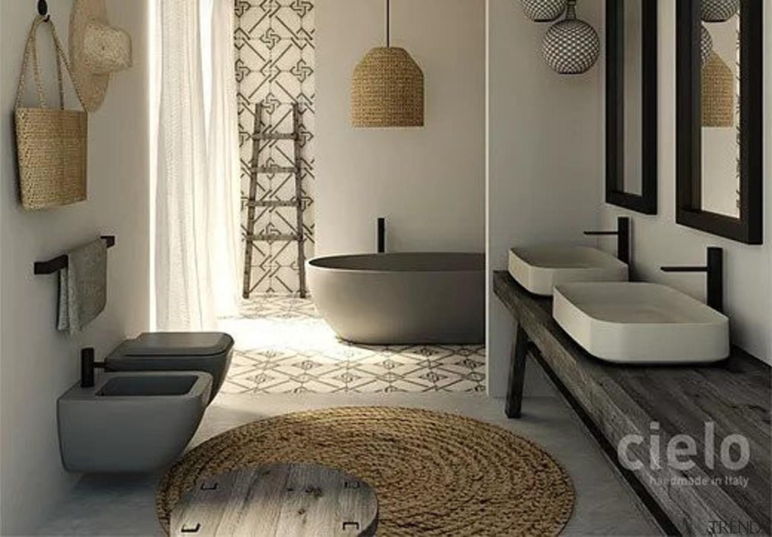 Shui Comfort by Cielo - Shui Comfort by bathroom, floor, flooring, home, interior design, living room, room, tile, gray, black