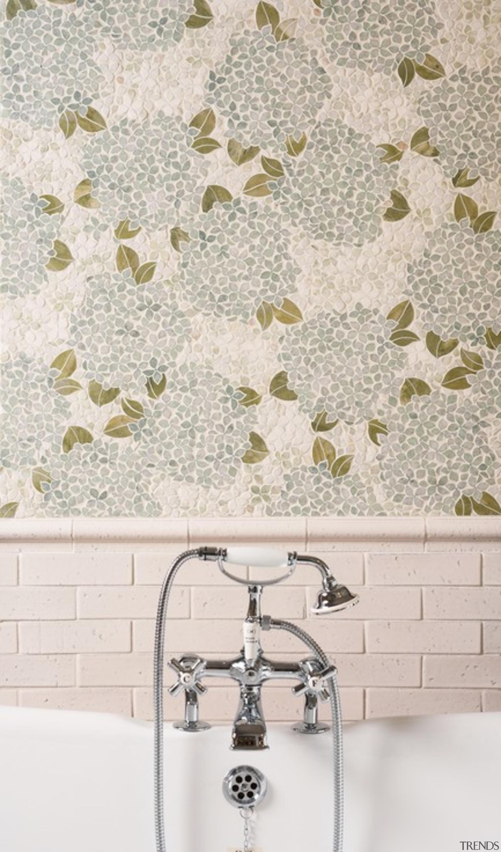 Hydrangea – French Quarter Collection - interior design interior design, tile, wall, wallpaper, white