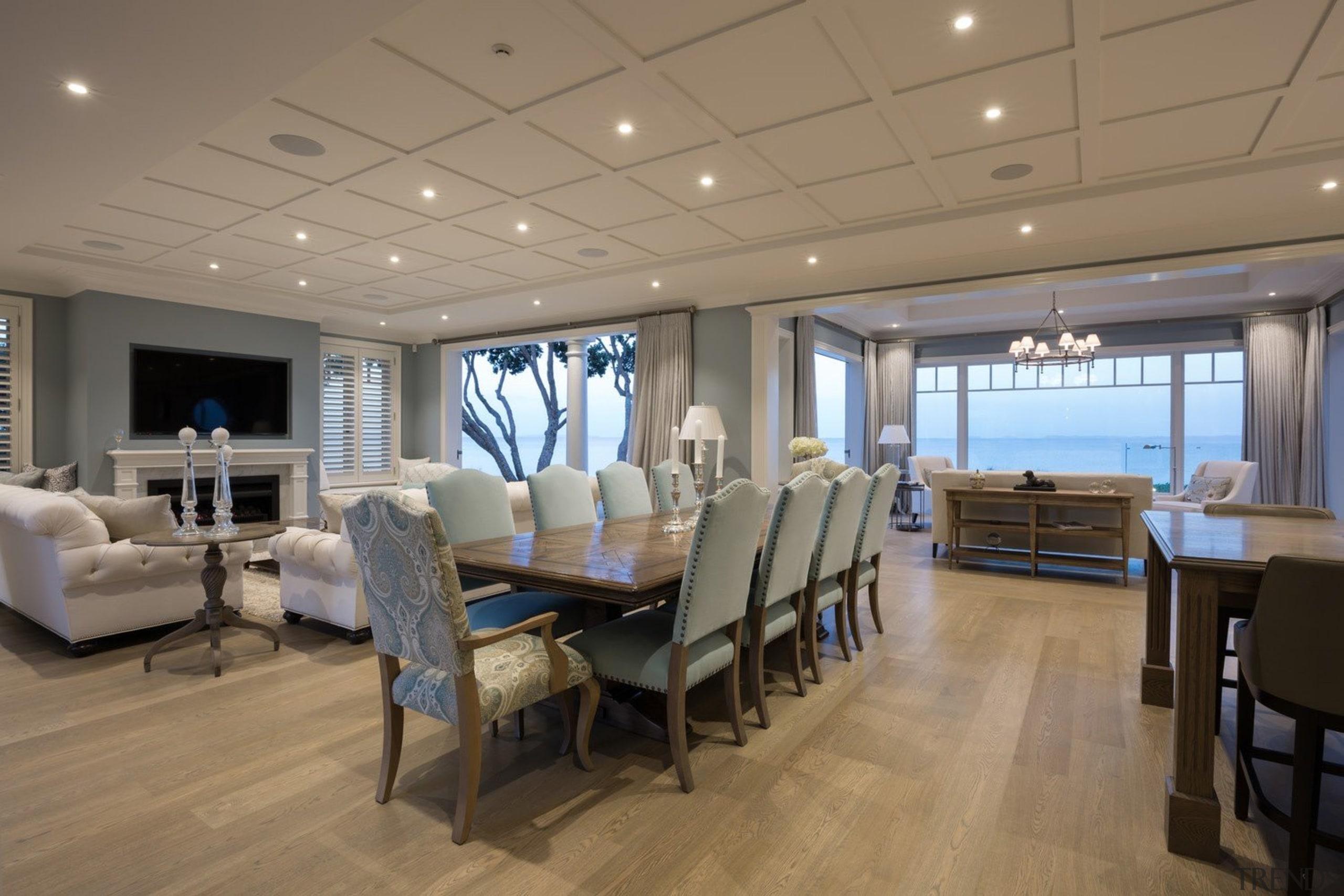 Living area - Living area - ceiling | ceiling, deck, interior design, real estate, brown, gray