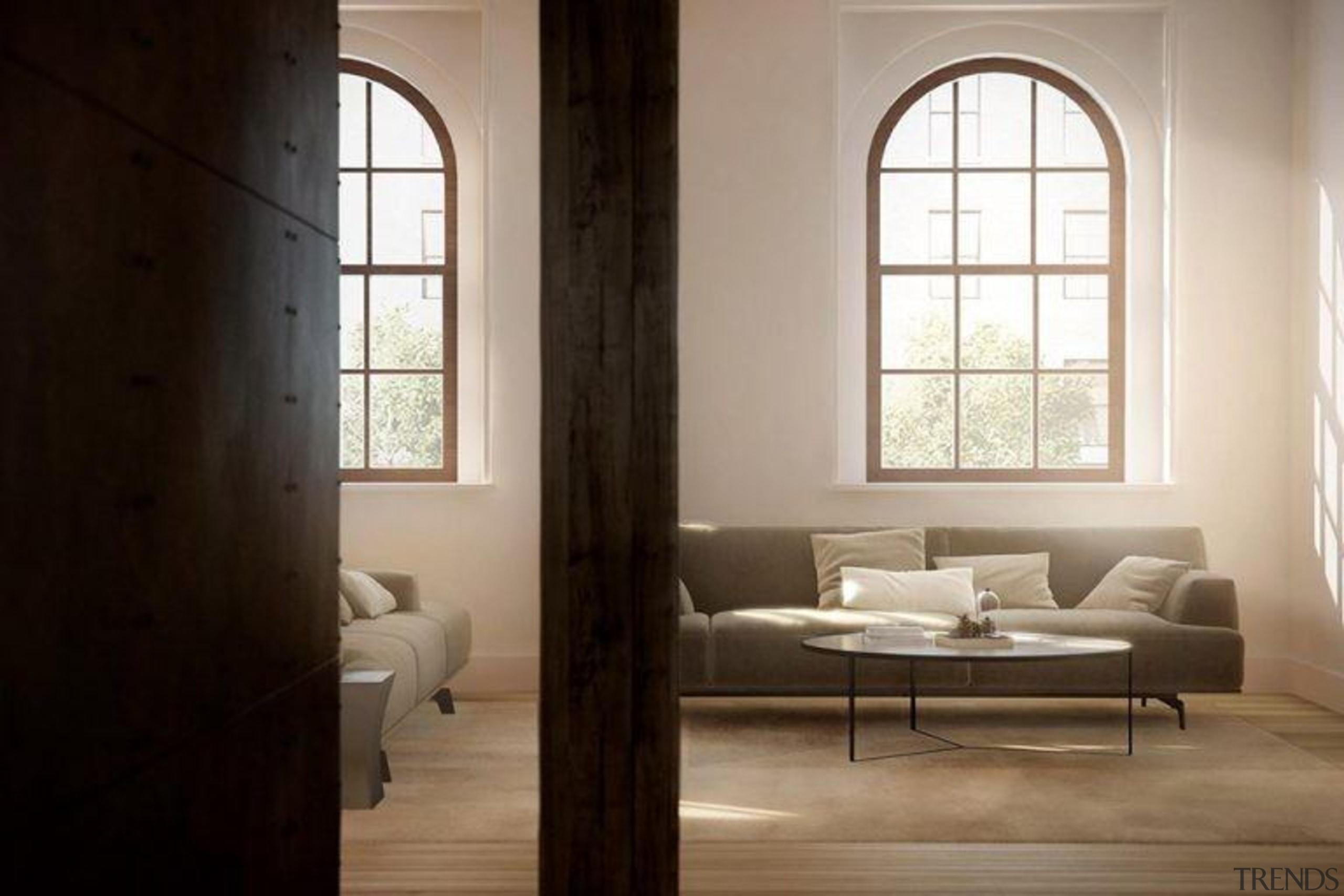 Original story from Trulia daylighting, floor, flooring, furniture, home, interior design, table, window, wood, black, gray