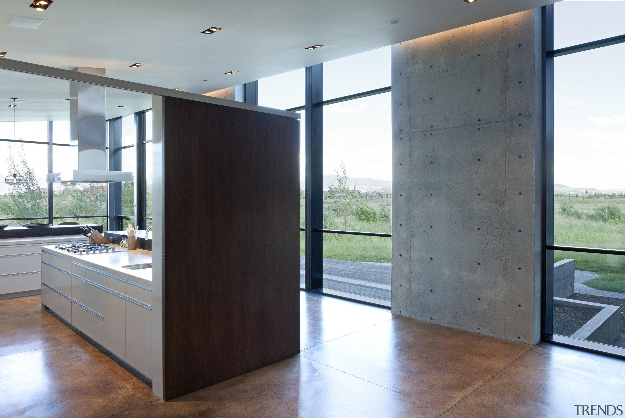 High ceilings in two corners of the home architecture, floor, house, interior design, white, gray