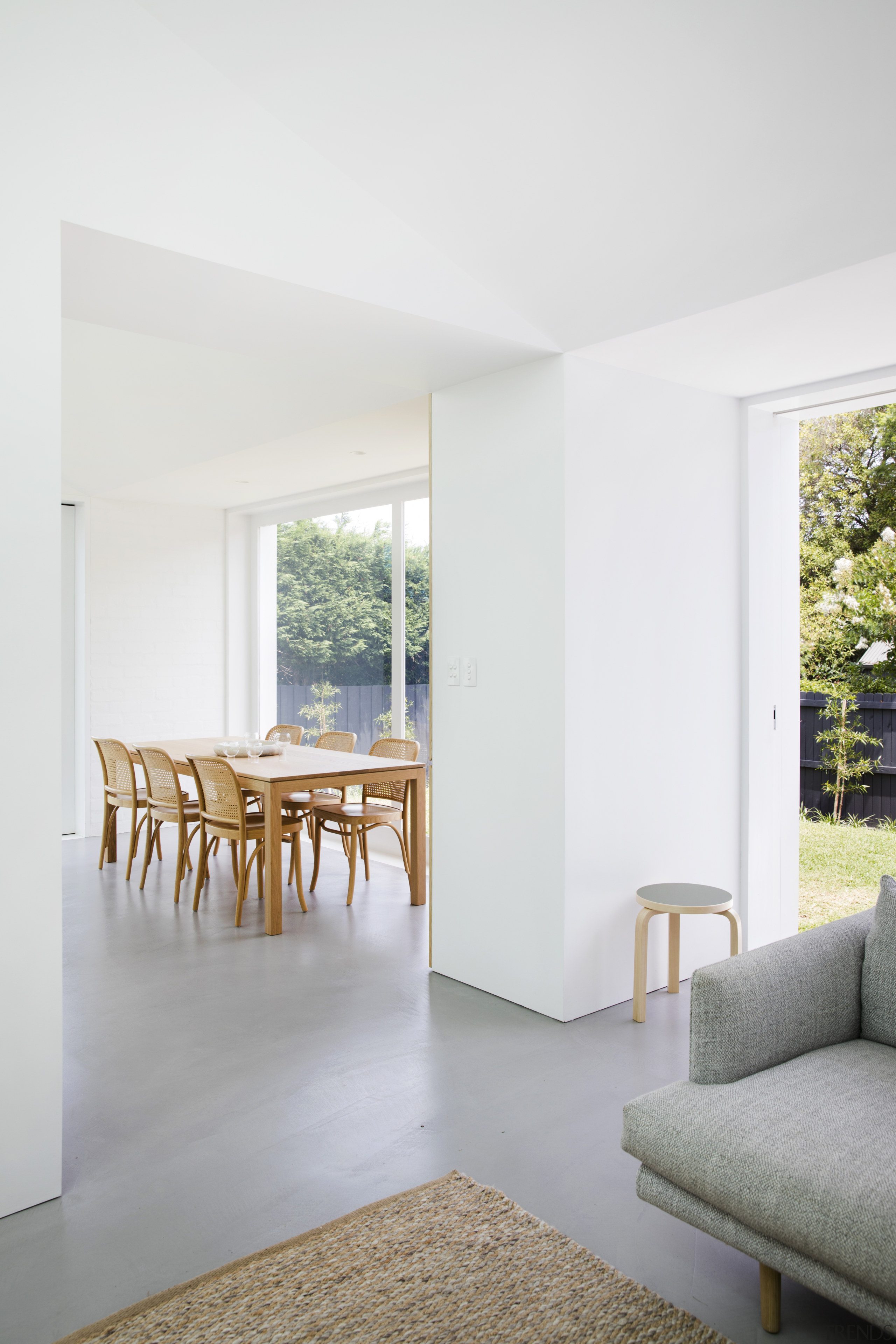In this addition to a classic cottage, what architecture, floor, home, house, interior design, Studio Prineas, kitchen extension