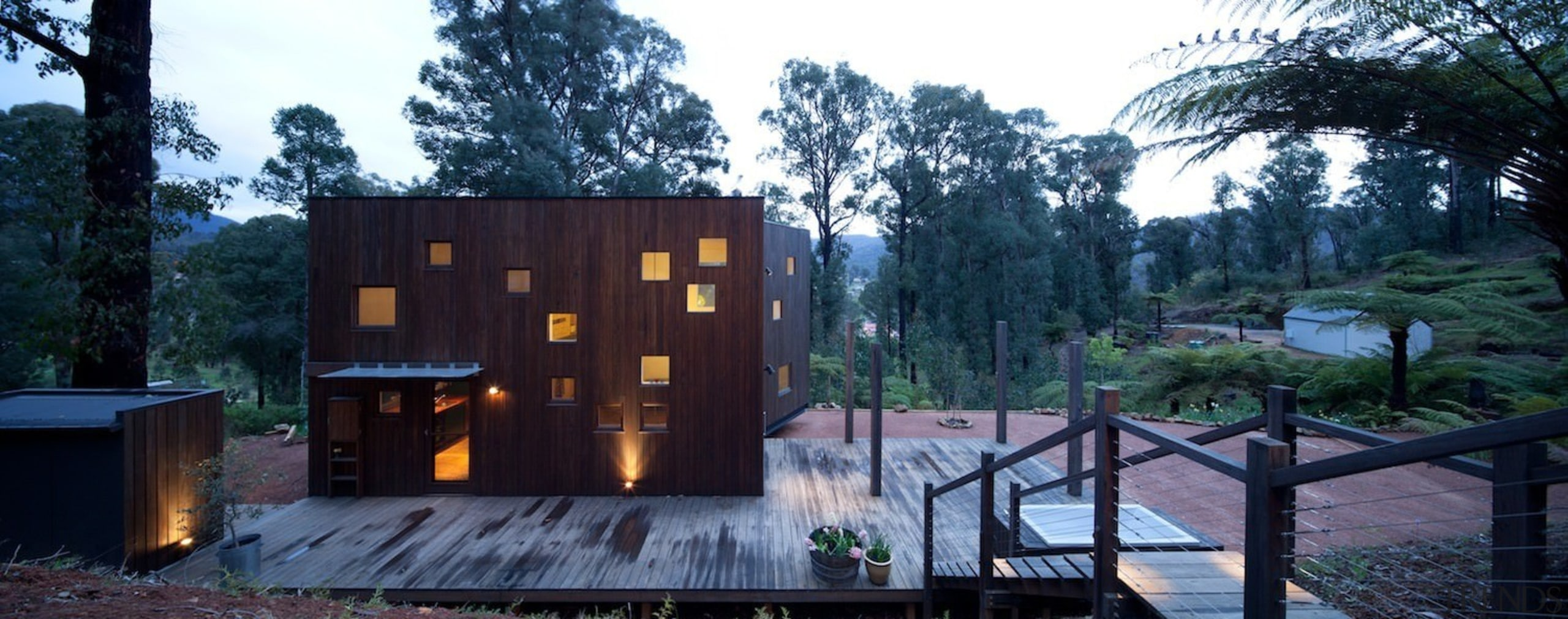 Architect: Steffen Welsch Architects architecture, cottage, home, house, property, tree, black