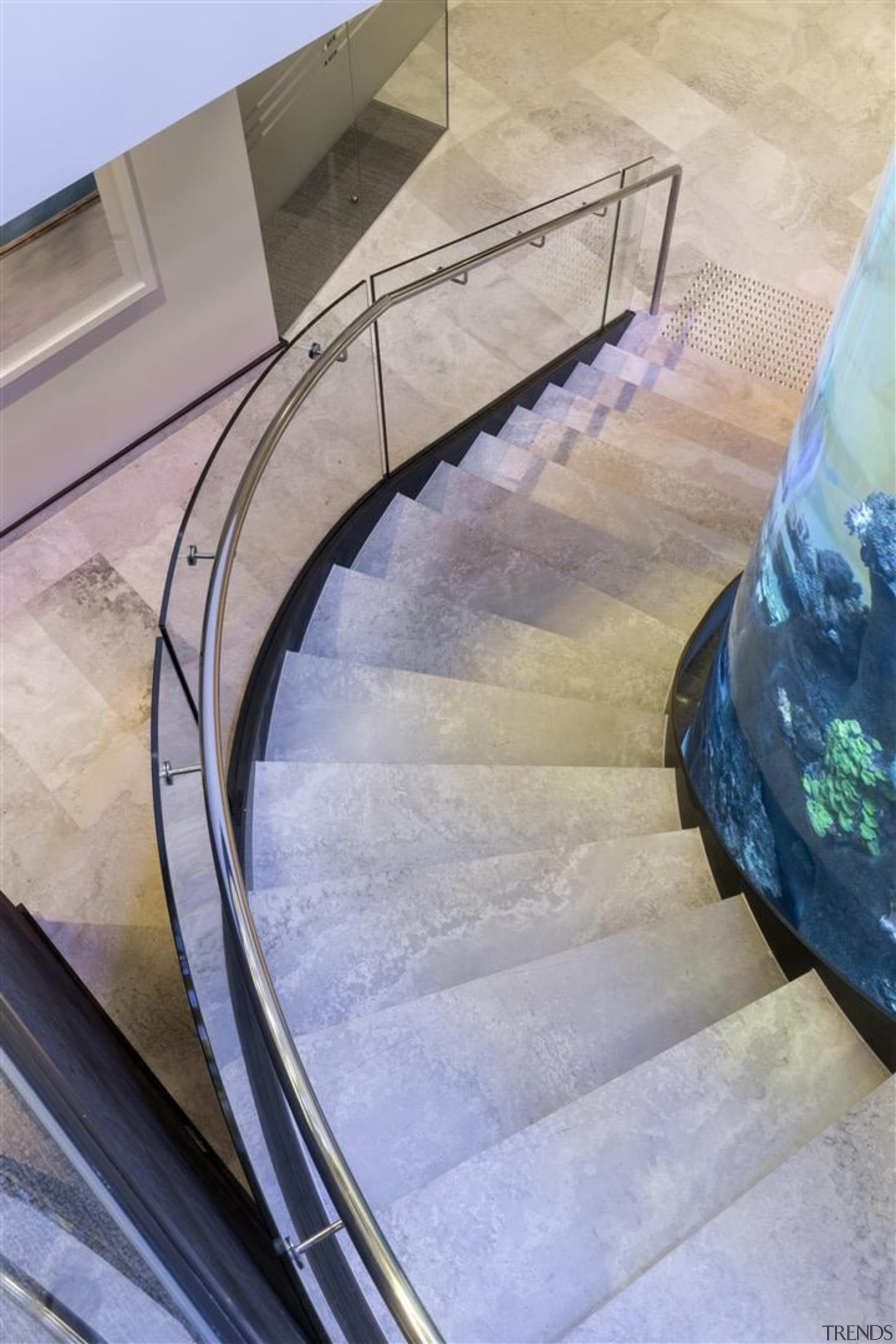 Zorzi Homes - architecture | daylighting | floor architecture, daylighting, floor, flooring, glass, handrail, stairs, gray, teal