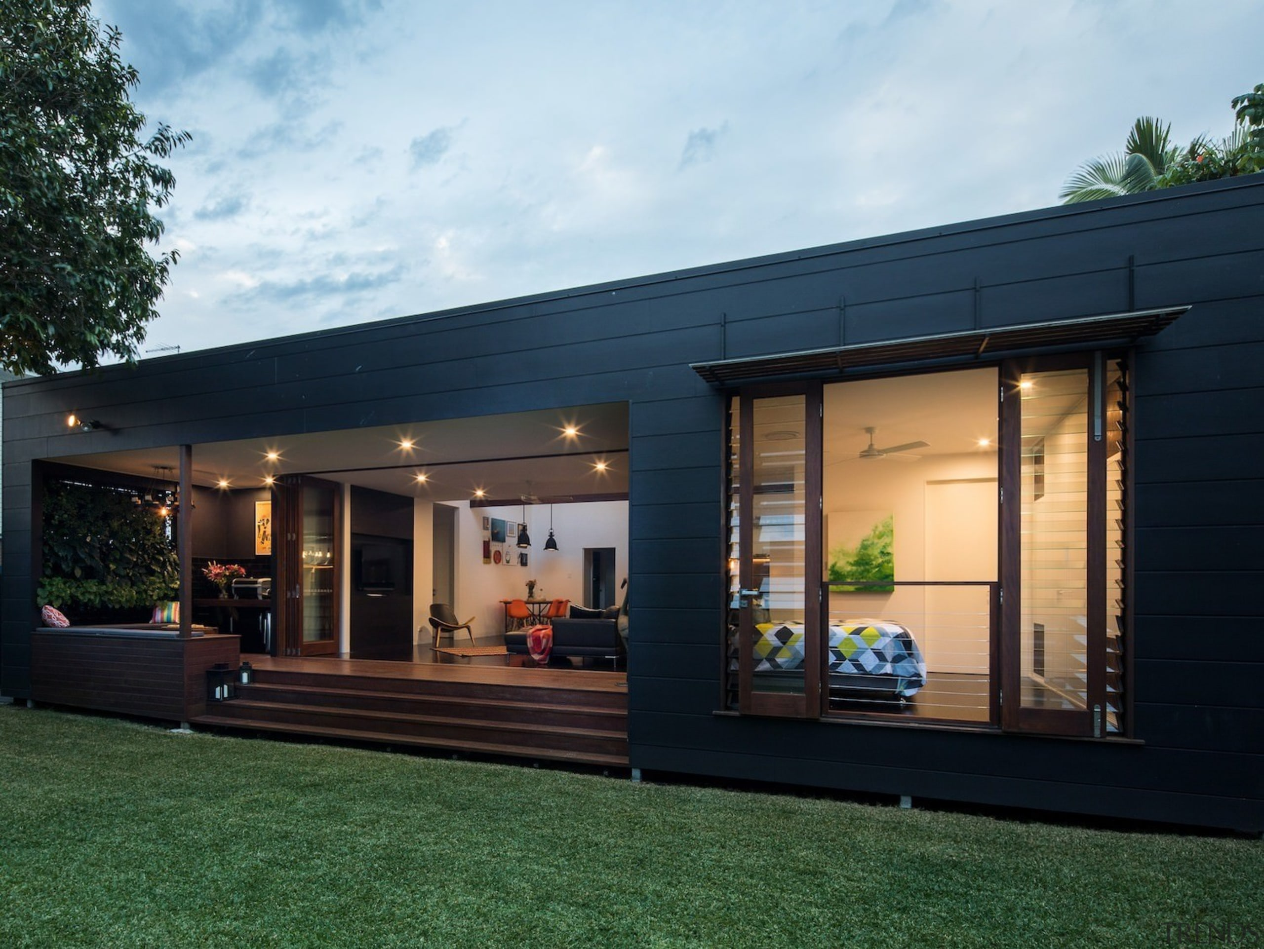 Architect: Blue Giraffe StudioPhotography by md photography architecture, facade, home, house, property, real estate, window, black