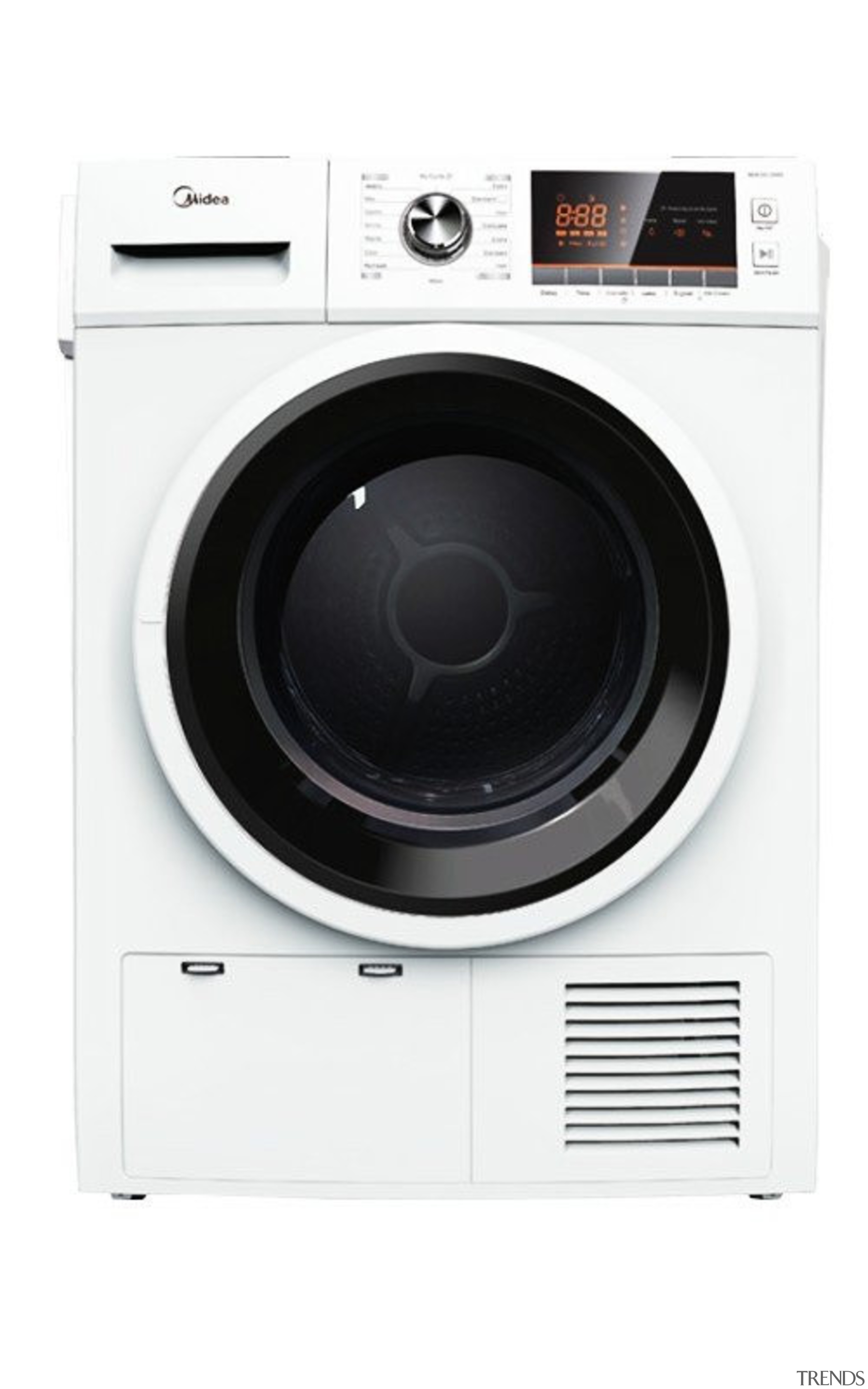 7 Kg Condenser DryerCAPACITY: 7Kg15 Programs, Child Lock, clothes dryer, home appliance, major appliance, product, washing machine, white