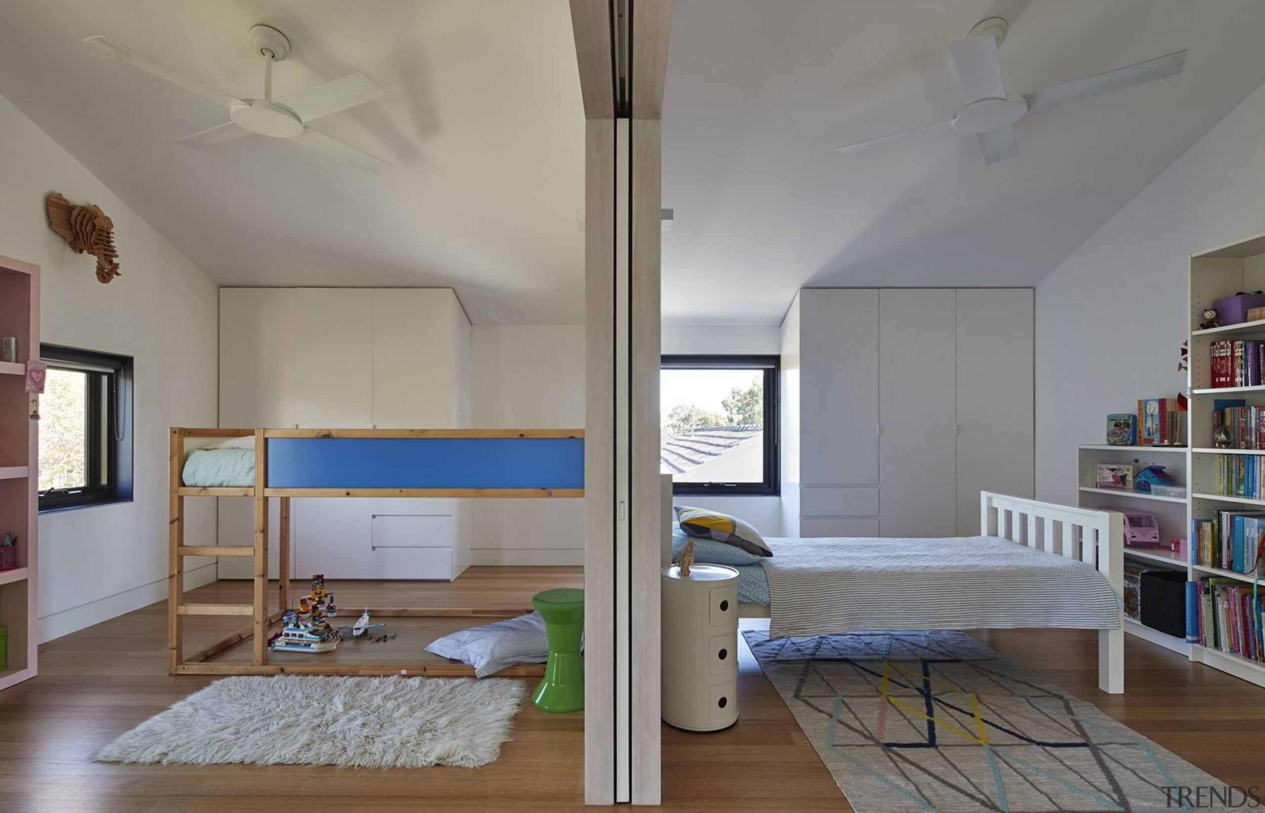 Architect: Austin Maynard ArchitectsPhotography by Peter Bennetts architecture, ceiling, daylighting, floor, furniture, house, interior design, living room, loft, real estate, room, gray