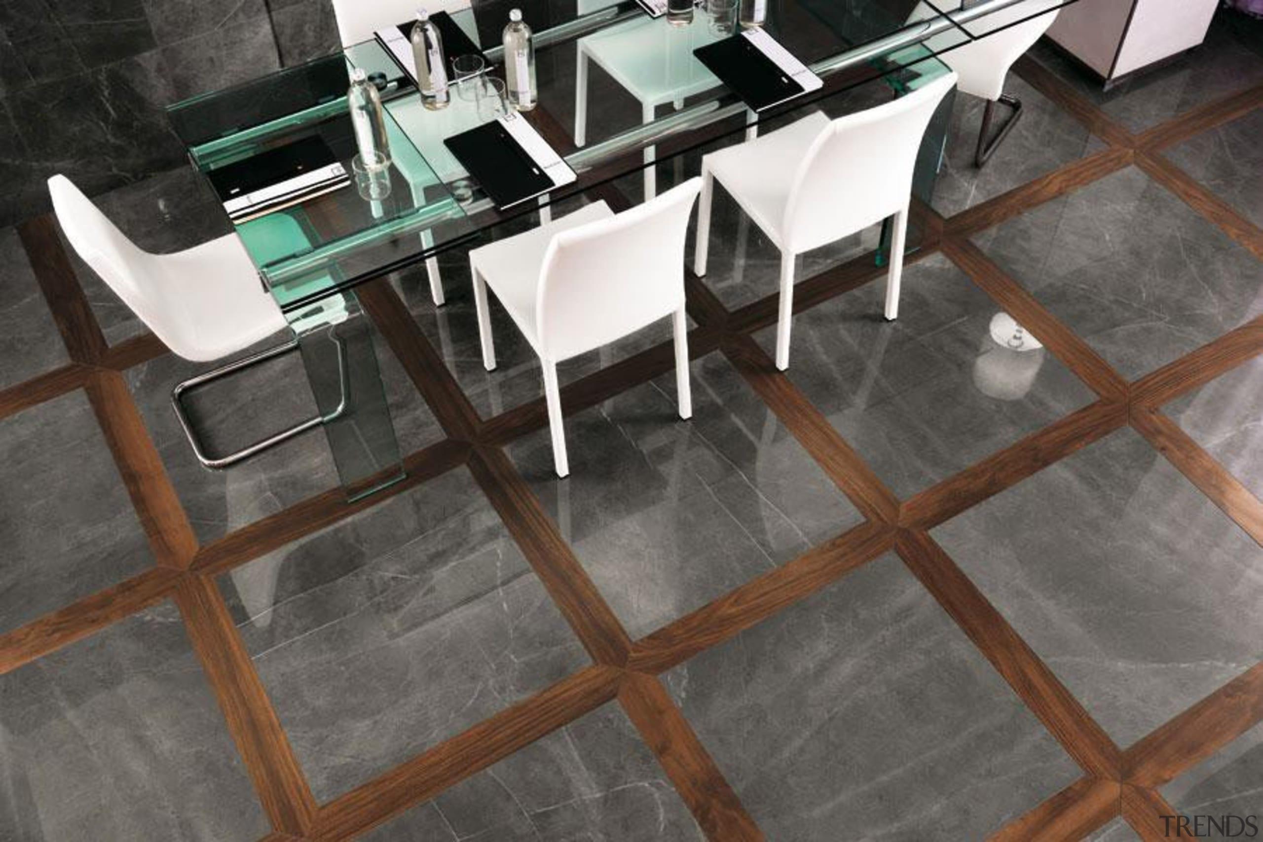 Grey stone floor tiles - Cb 1371375050023524 - chair, floor, flooring, furniture, hardwood, product design, table, tile, wood, wood flooring, gray, black