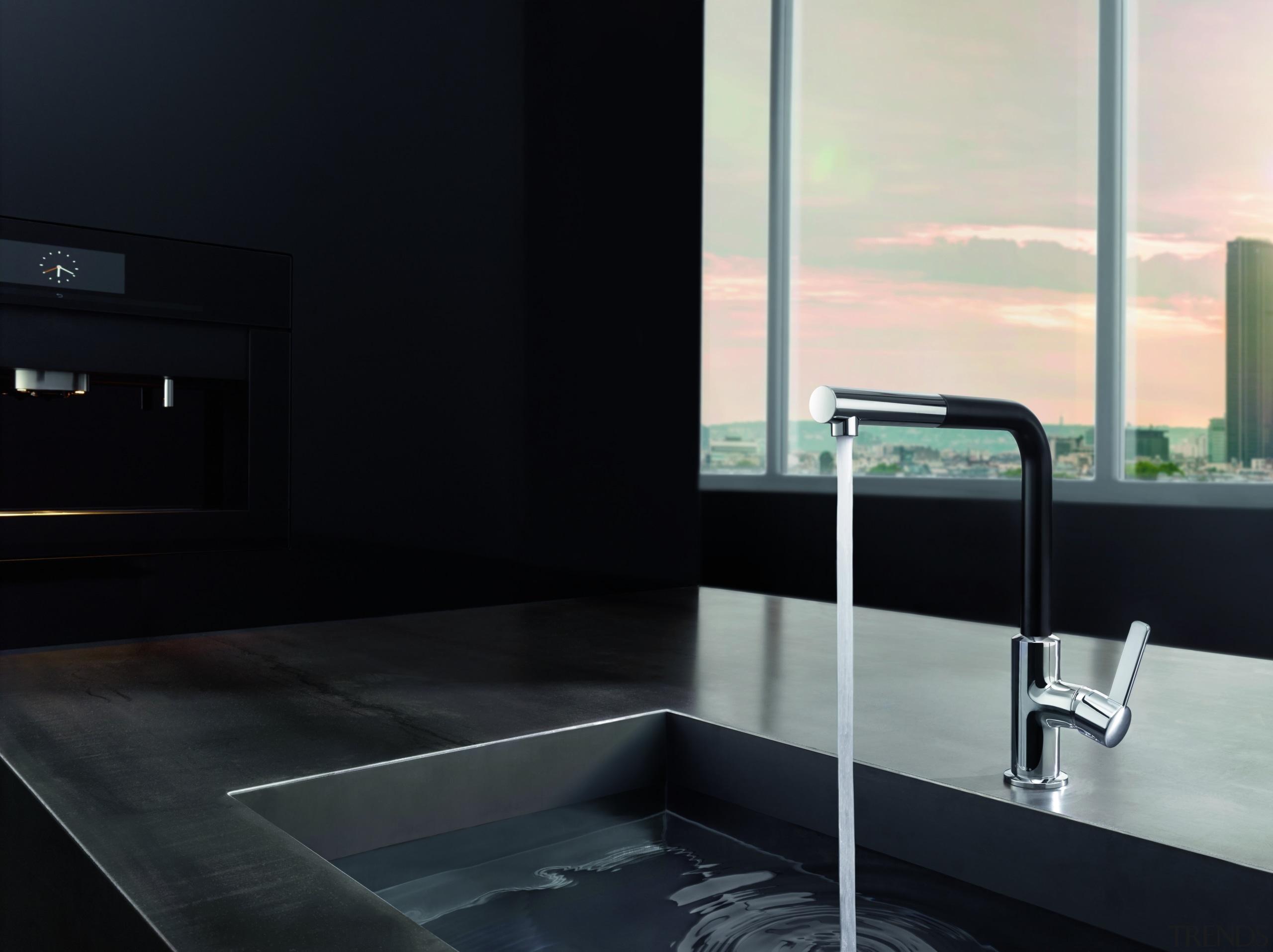 Foreno 2 - angle | architecture | bathroom angle, architecture, bathroom, countertop, glass, interior design, plumbing fixture, sink, tap, black
