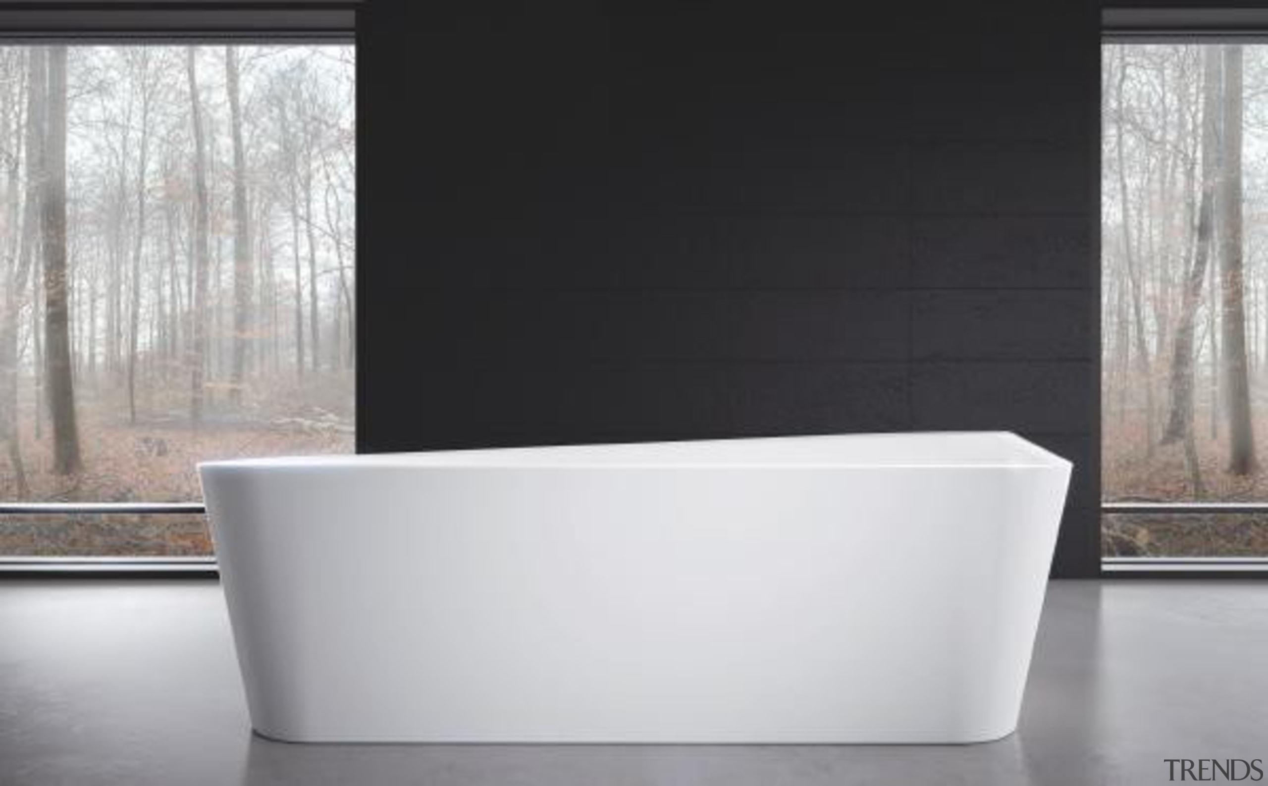 Working with star designer Arik Levy, Kaldewei has angle, bathroom sink, bathtub, plumbing fixture, product design, tap, black, white, gray