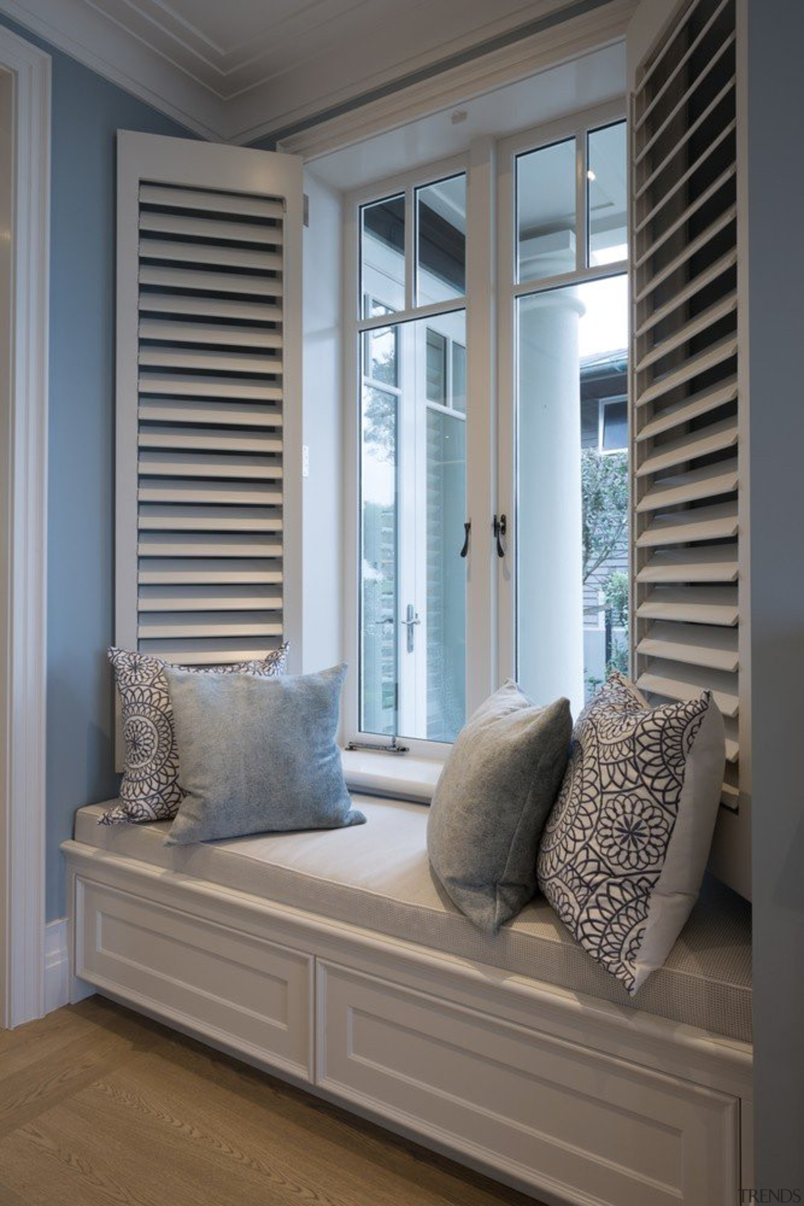 Window seat - Window seat - curtain | curtain, door, floor, furniture, home, interior design, living room, sash window, shade, window, window blind, window covering, window treatment, wood, gray