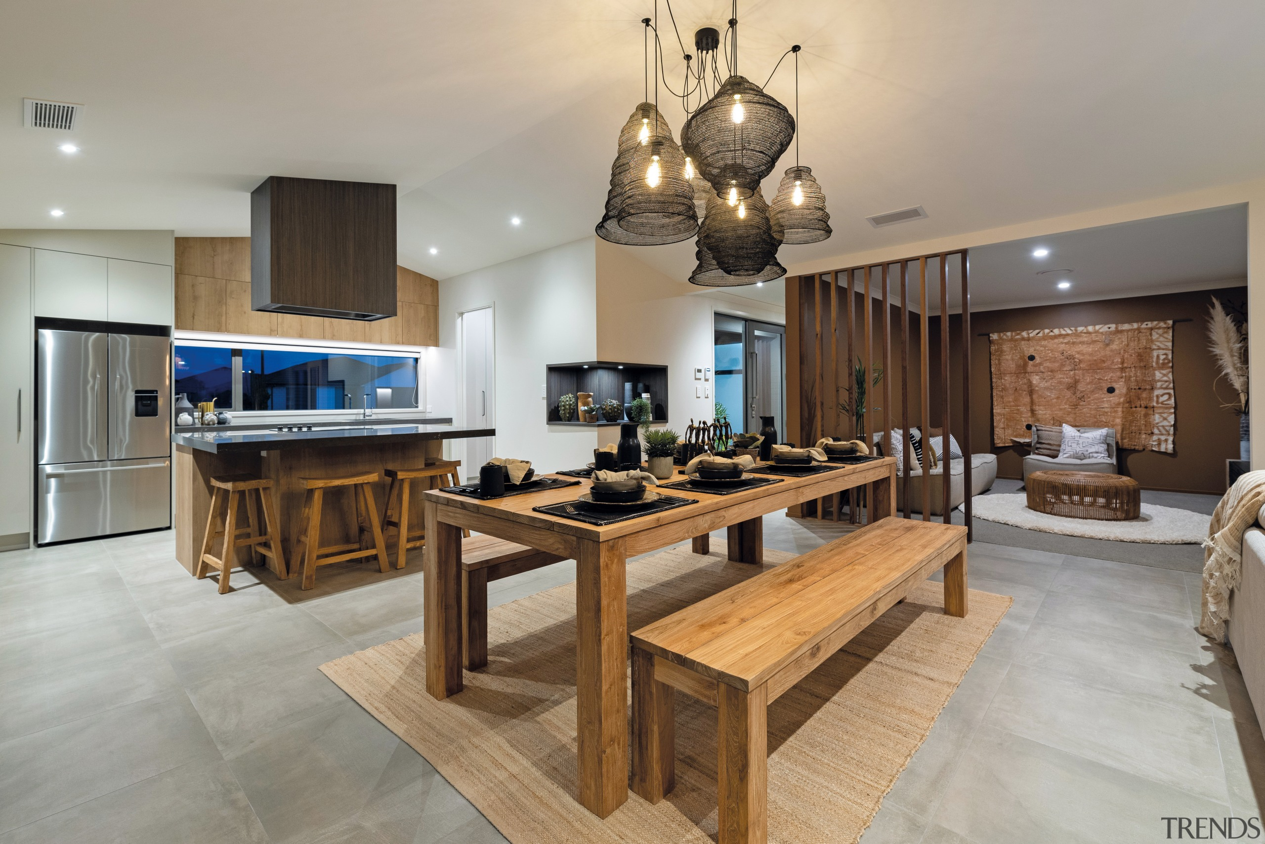 This Papamoa showhome's lounge or media room is gray