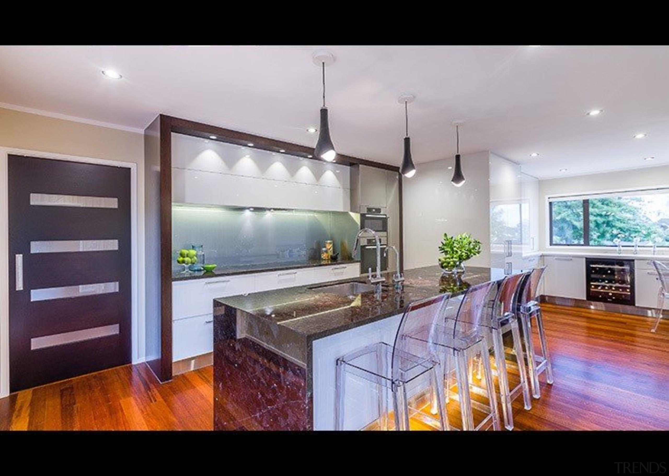 Open plan - countertop   estate   home countertop, estate, home, interior design, kitchen, property, real estate, gray