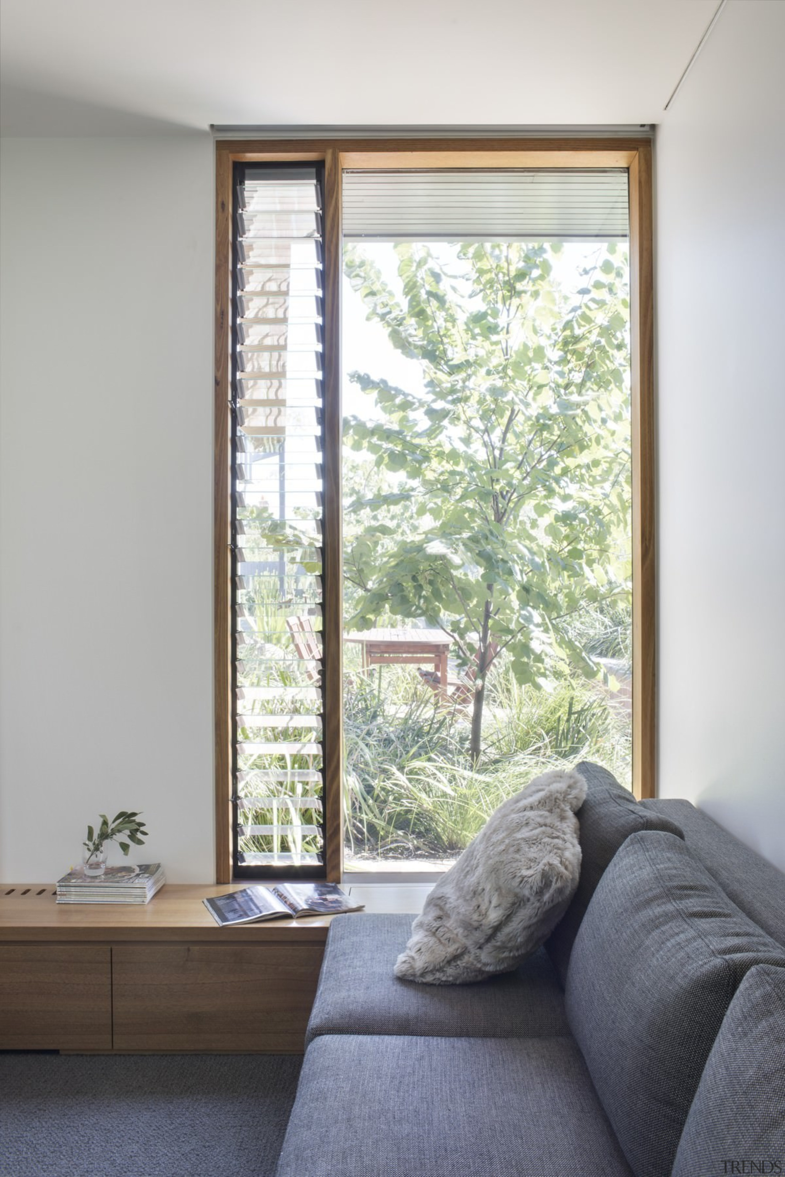 Airflow is no problem in this home - architecture, daylighting, door, home, house, interior design, real estate, room, sash window, window, window covering, window treatment, wood, gray, white