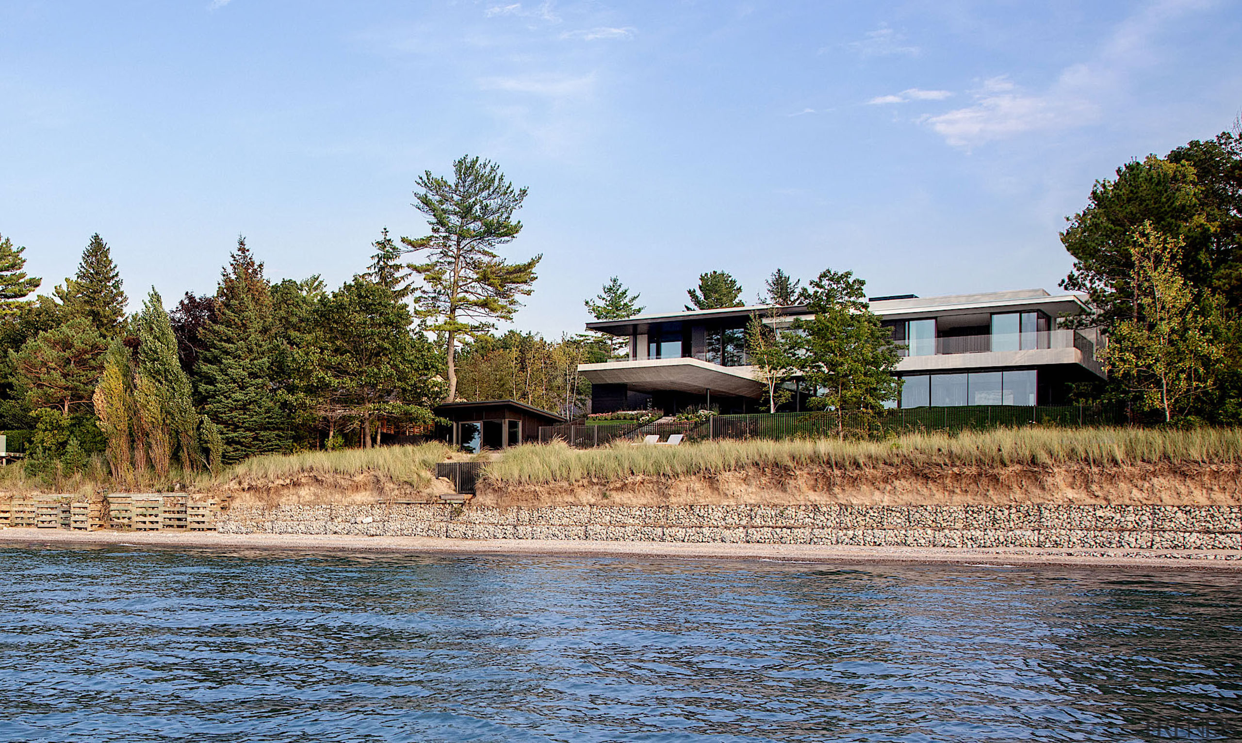This summer house is set on the banks