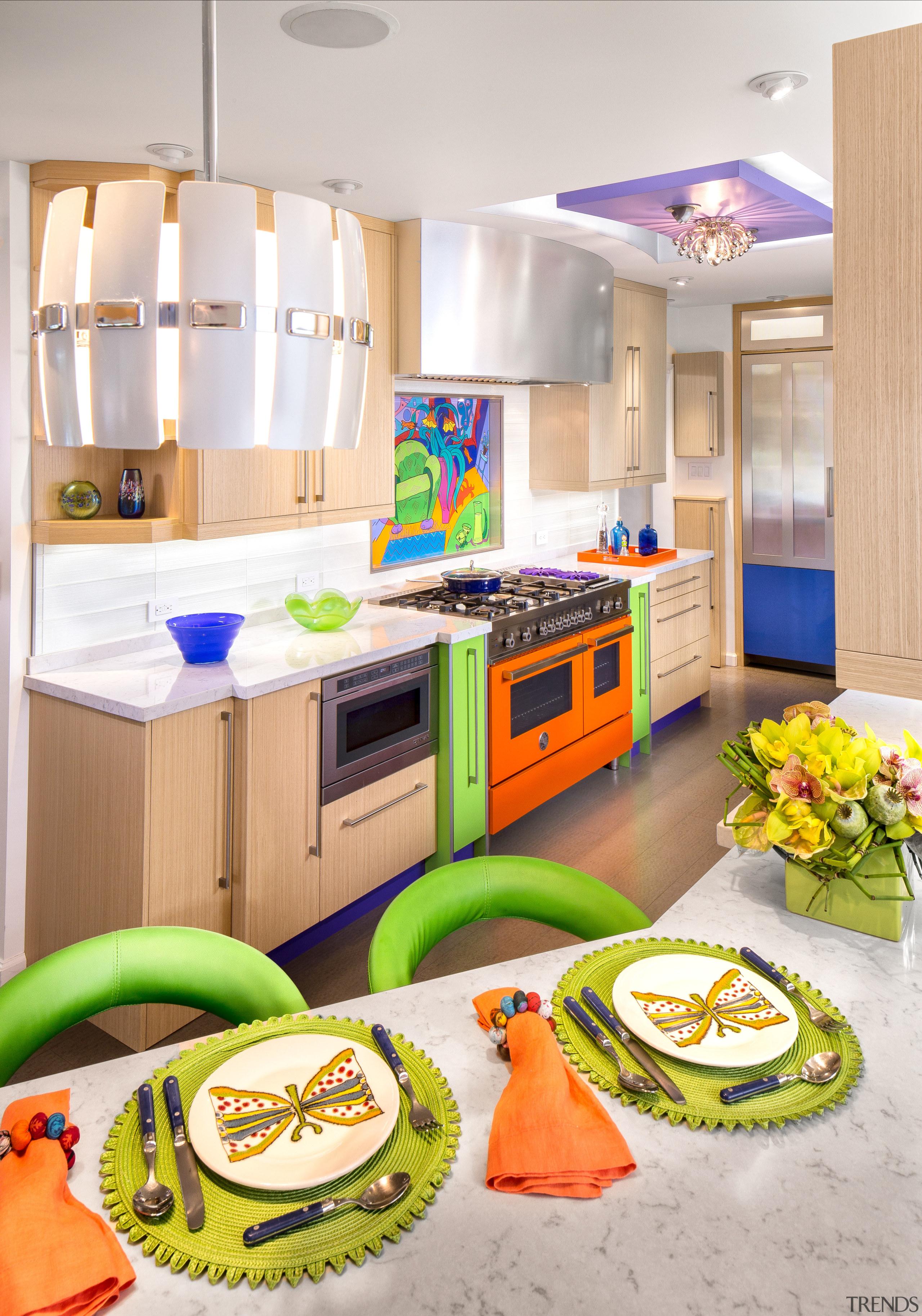The calm neutral tones of rift-cut white oak countertop, interior design, kitchen, product, product design, room, white