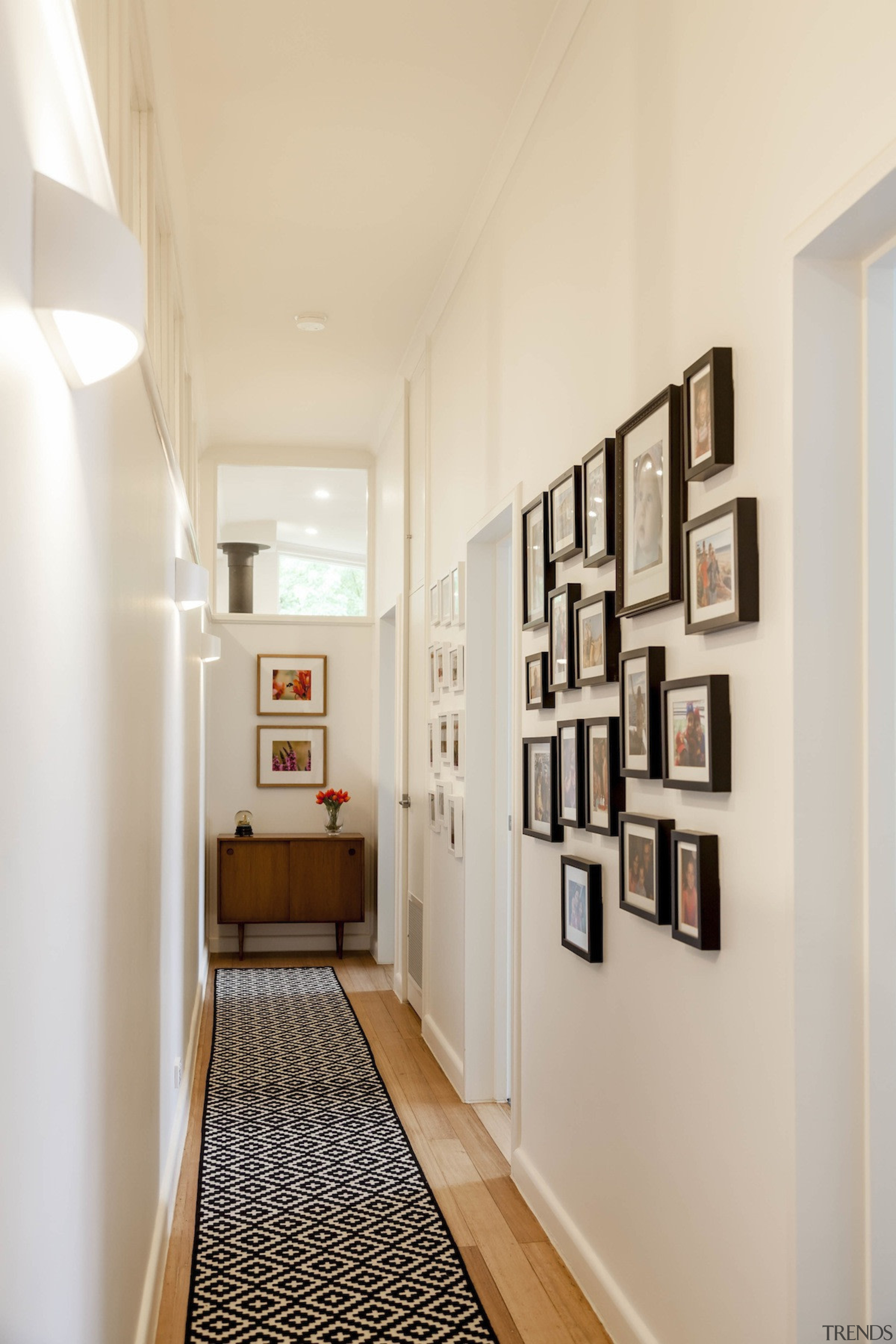 High internal windows mean greater light throughout ceiling, floor, hall, home, interior design, wall, gray