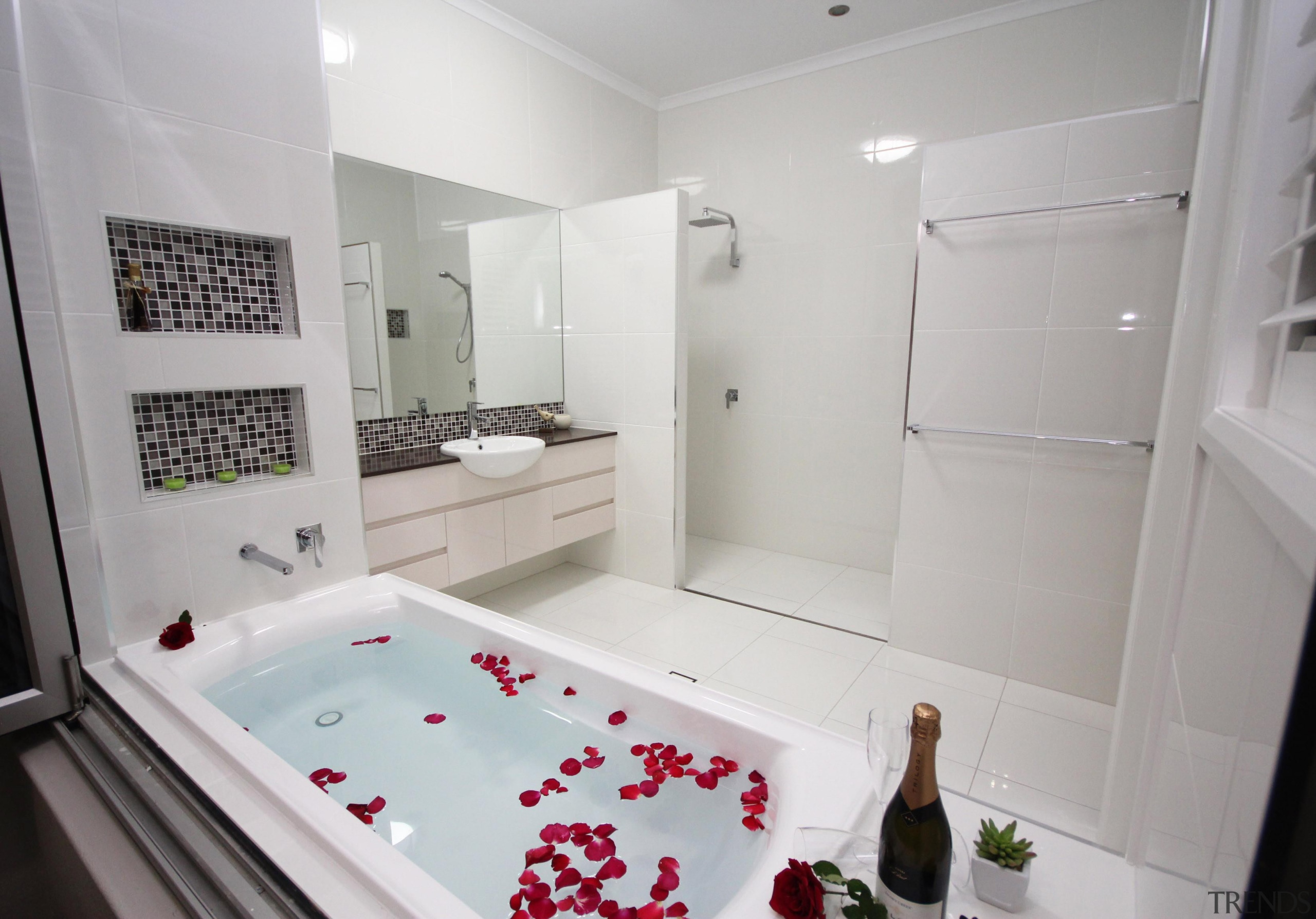 Winner Bathroom Design of the Year 2013 North bathroom, bathtub, floor, home, interior design, plumbing fixture, property, room, gray