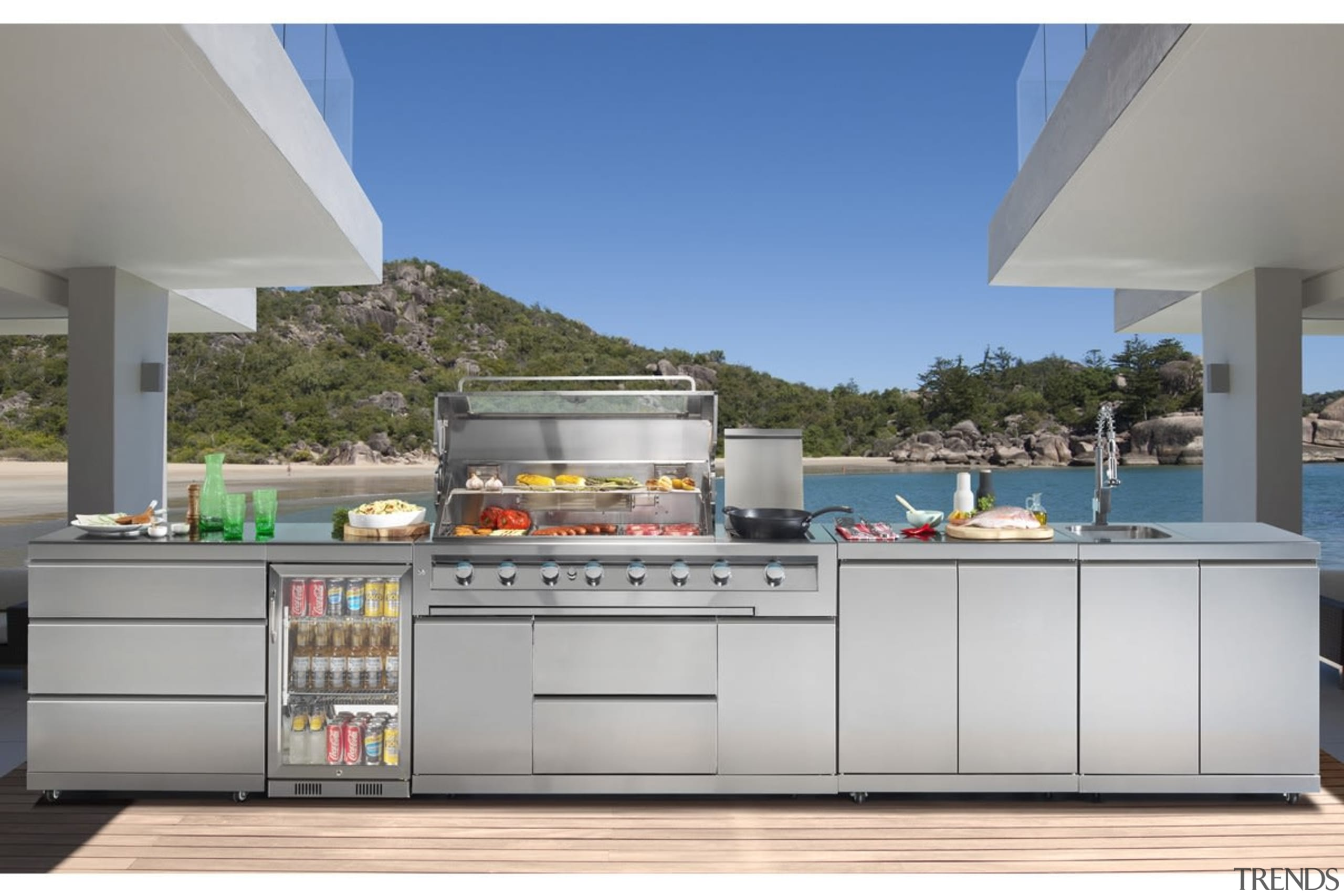 Gasmate Luxury Outdoor Kitchens - countertop | kitchen countertop, kitchen, gray