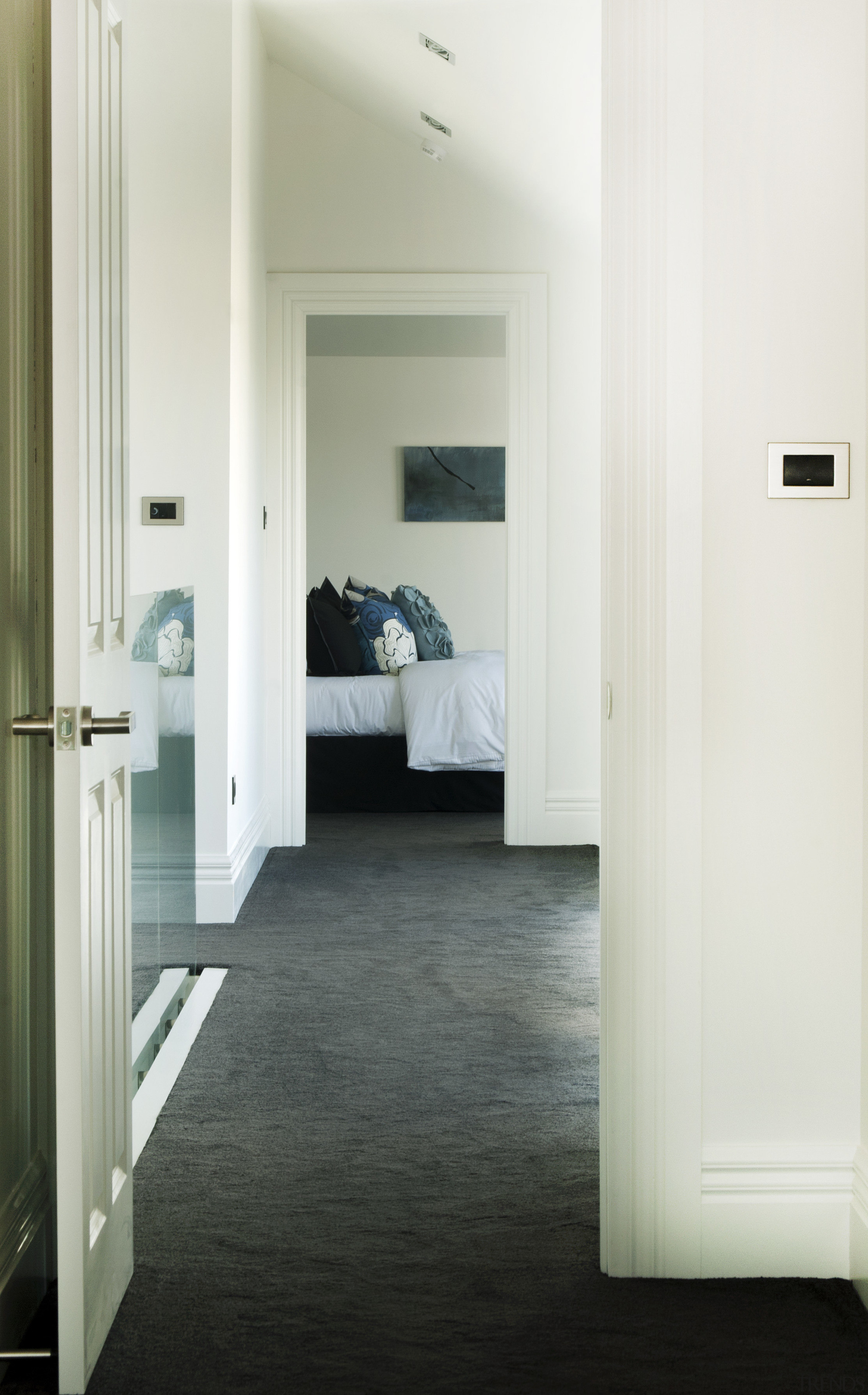 Hallway With Dark Carpet And White Gallery 2 Trends
