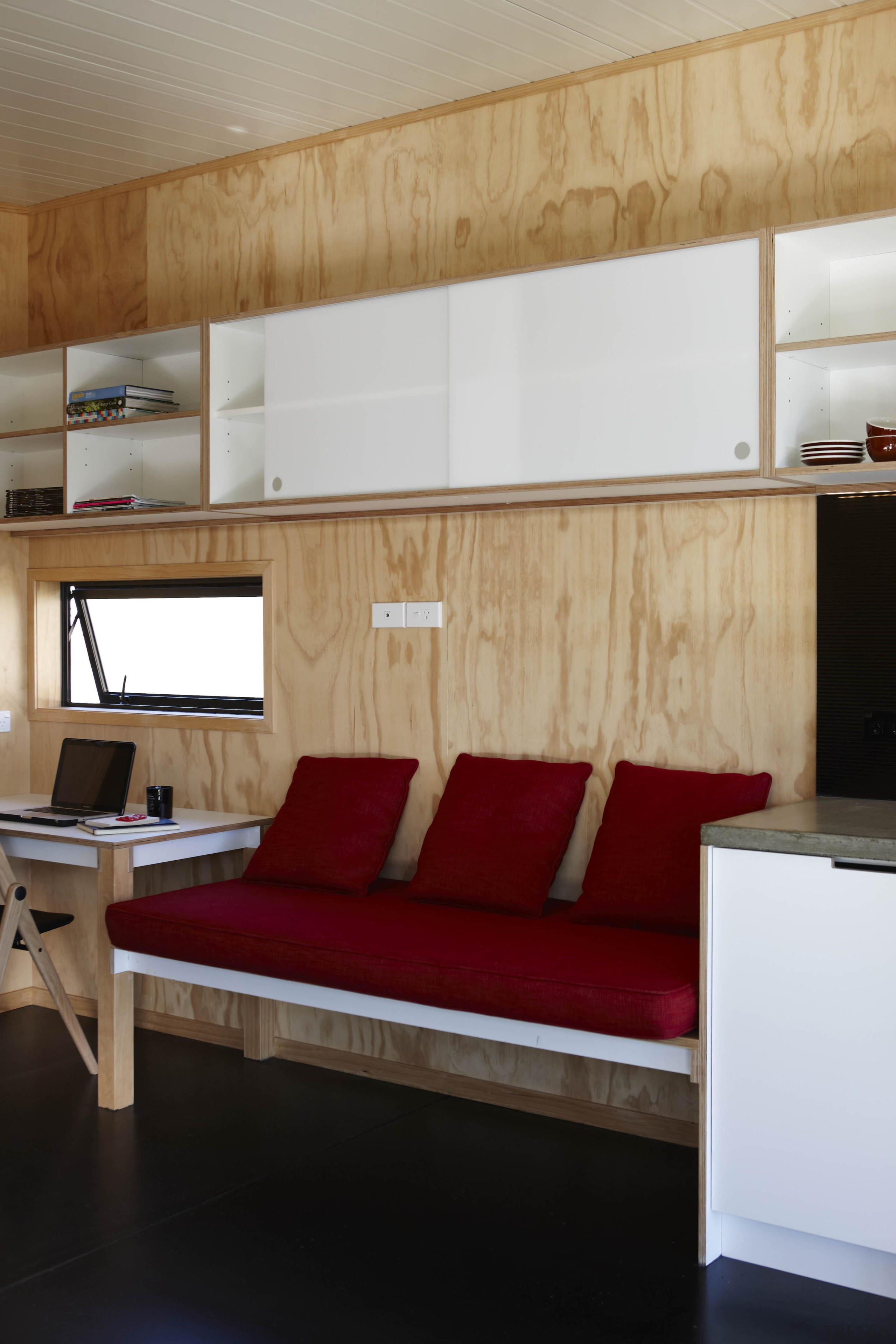 Waitakere Ranges - Studio 19 VisionWest Community Housing bed frame, ceiling, floor, flooring, furniture, interior design, room, table, wall, wood