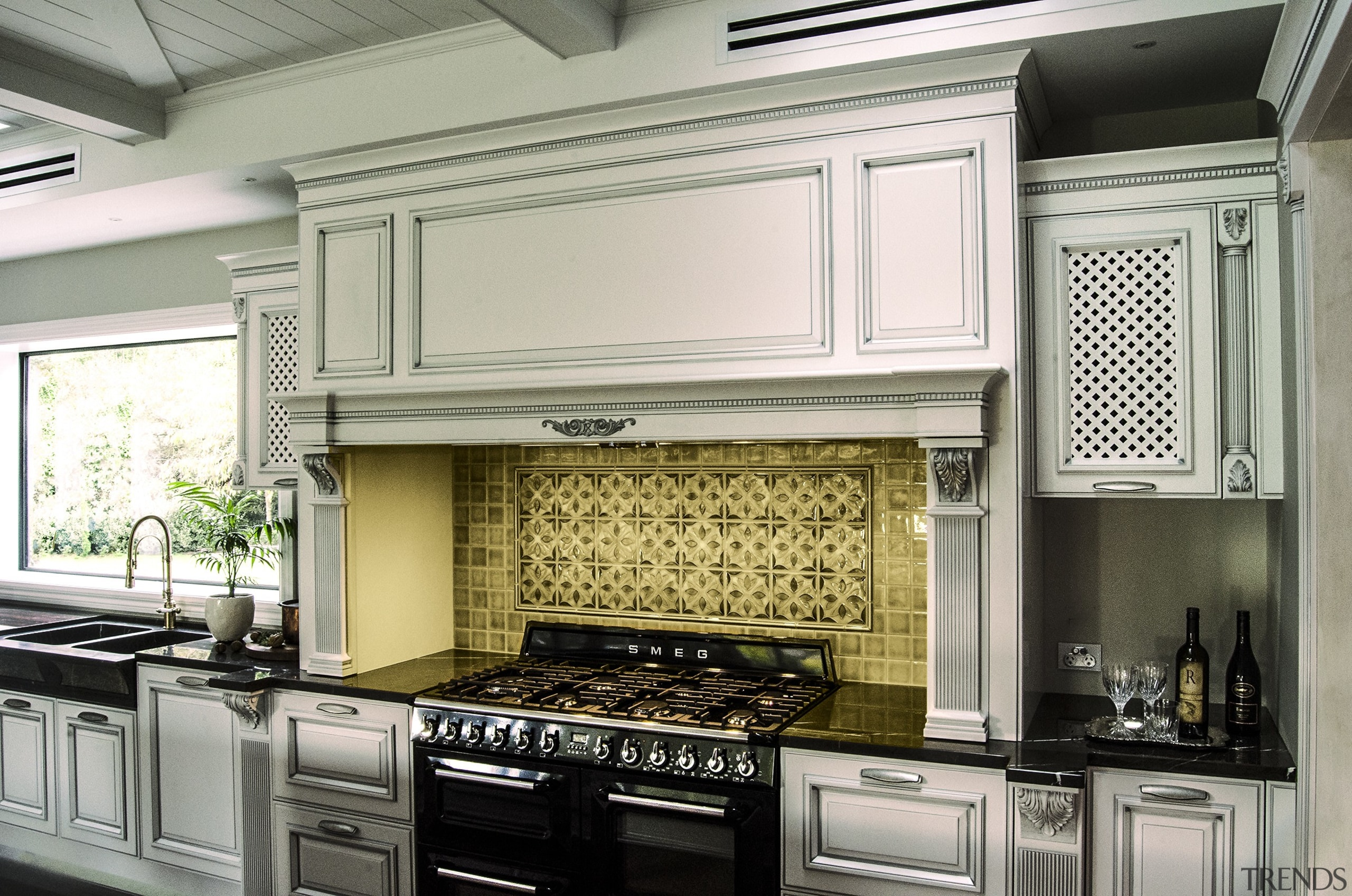 Goodland Residence 1 For more information, please visit cabinetry, countertop, cuisine classique, home appliance, interior design, kitchen, kitchen appliance, kitchen stove, gray