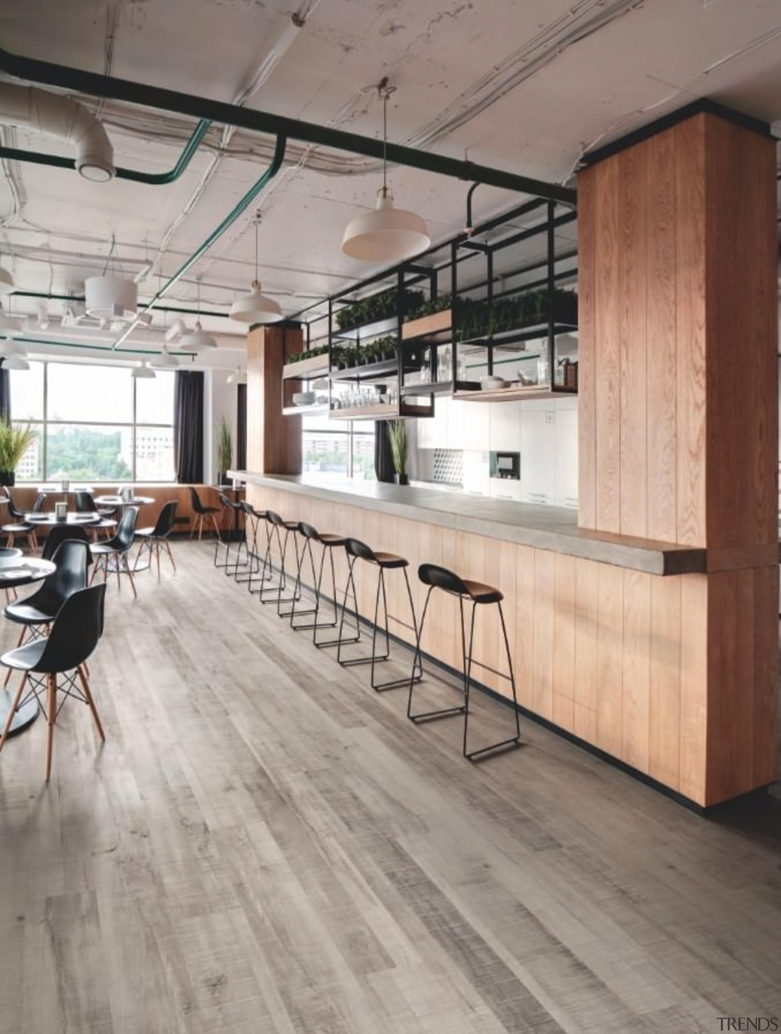 Expona is not just a byword for flooring floor, flooring, furniture, hardwood, interior design, laminate flooring, loft, table, wood, wood flooring, gray