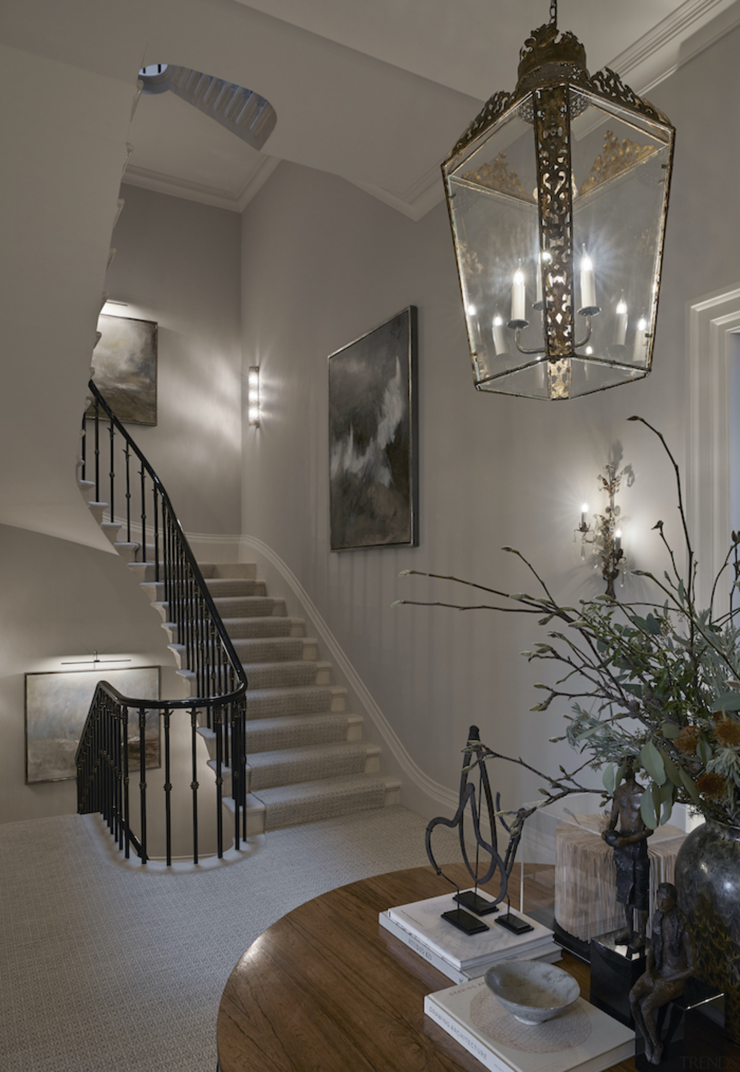 The original layouts, staircase and fireplaces in the