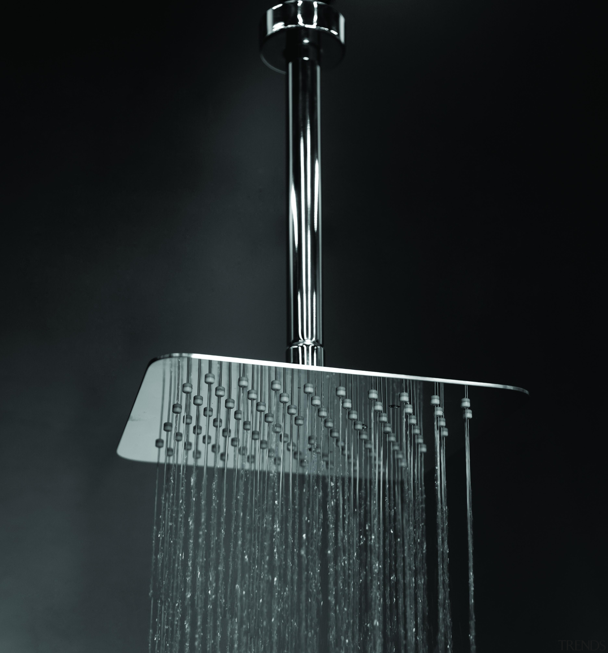 Wall-mount or ceiling-mount tilting square rain shower head black and white, light fixture, plumbing fixture, product design, black